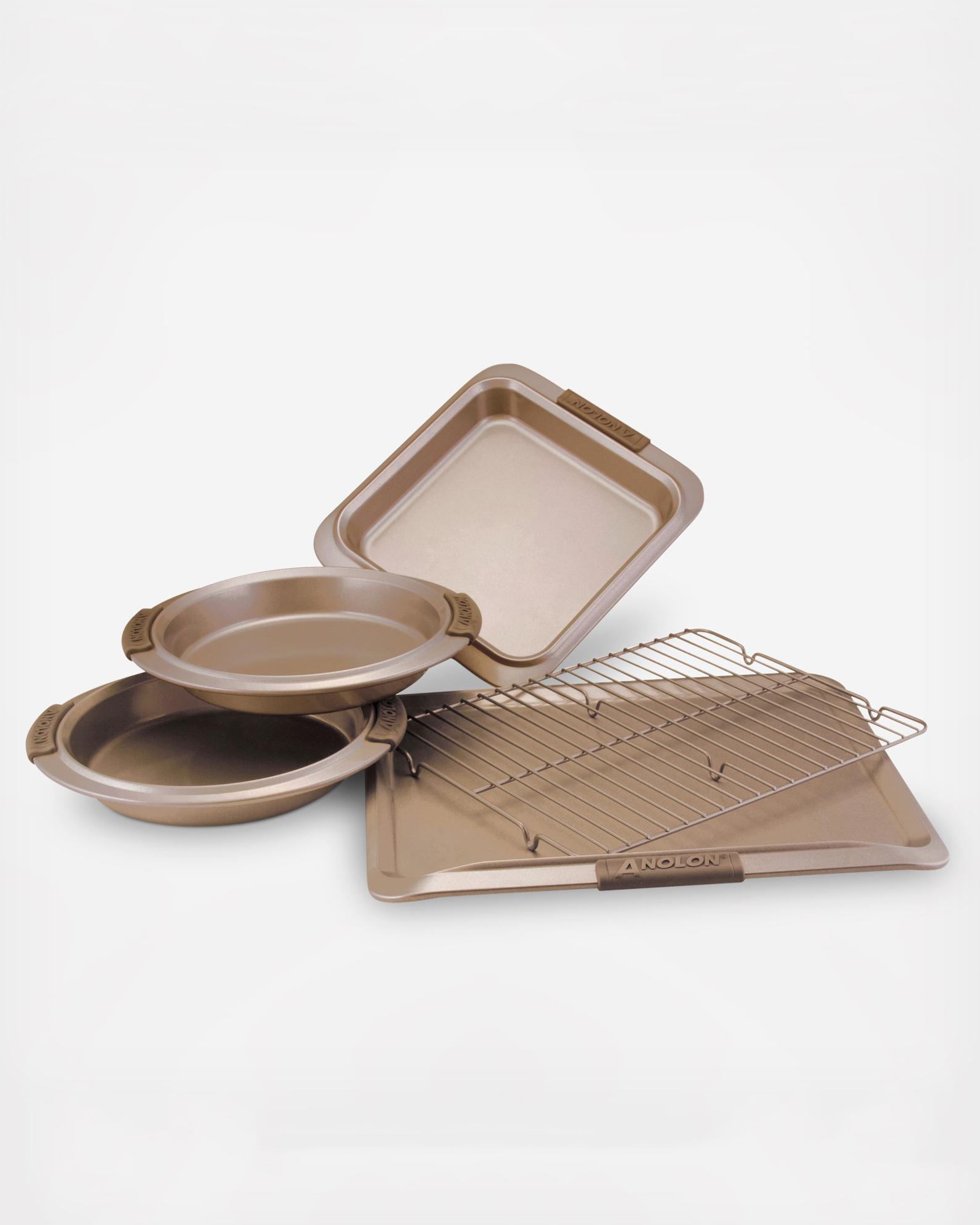 anolon advanced bronze bakeware set
