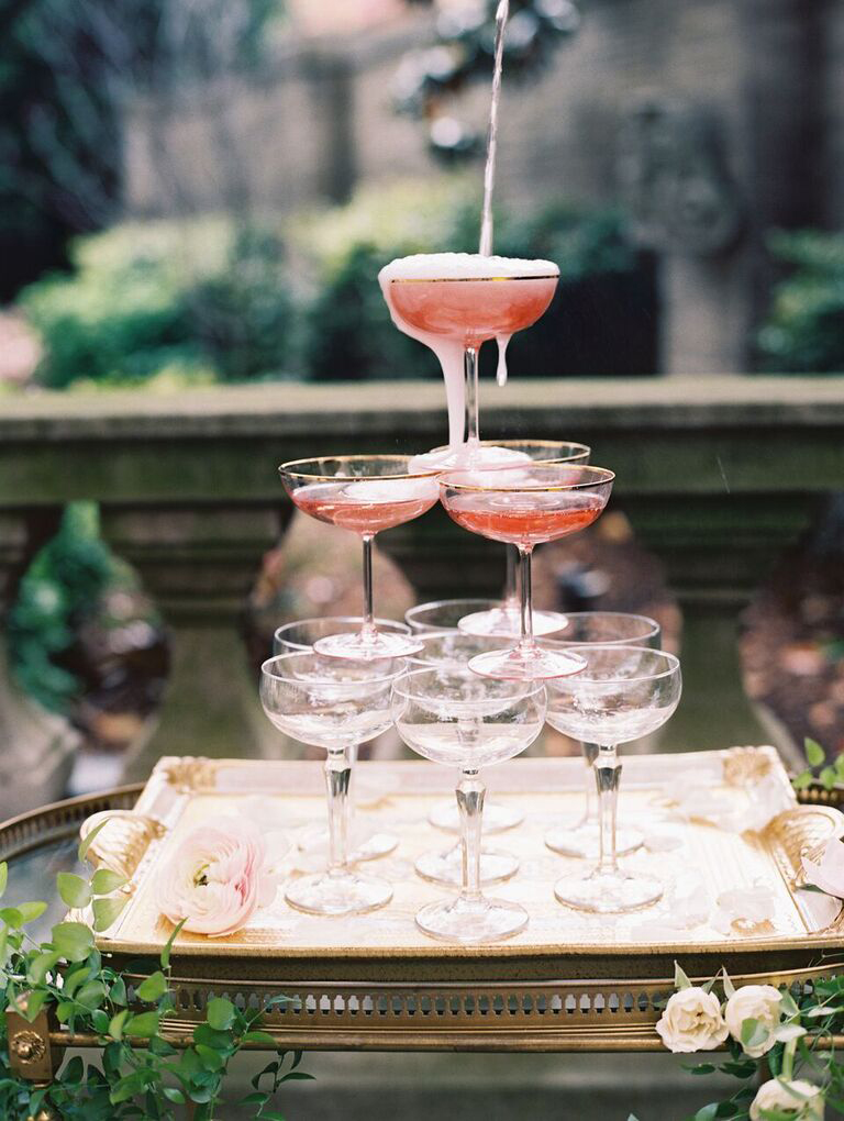 Rosé Champagne Tower