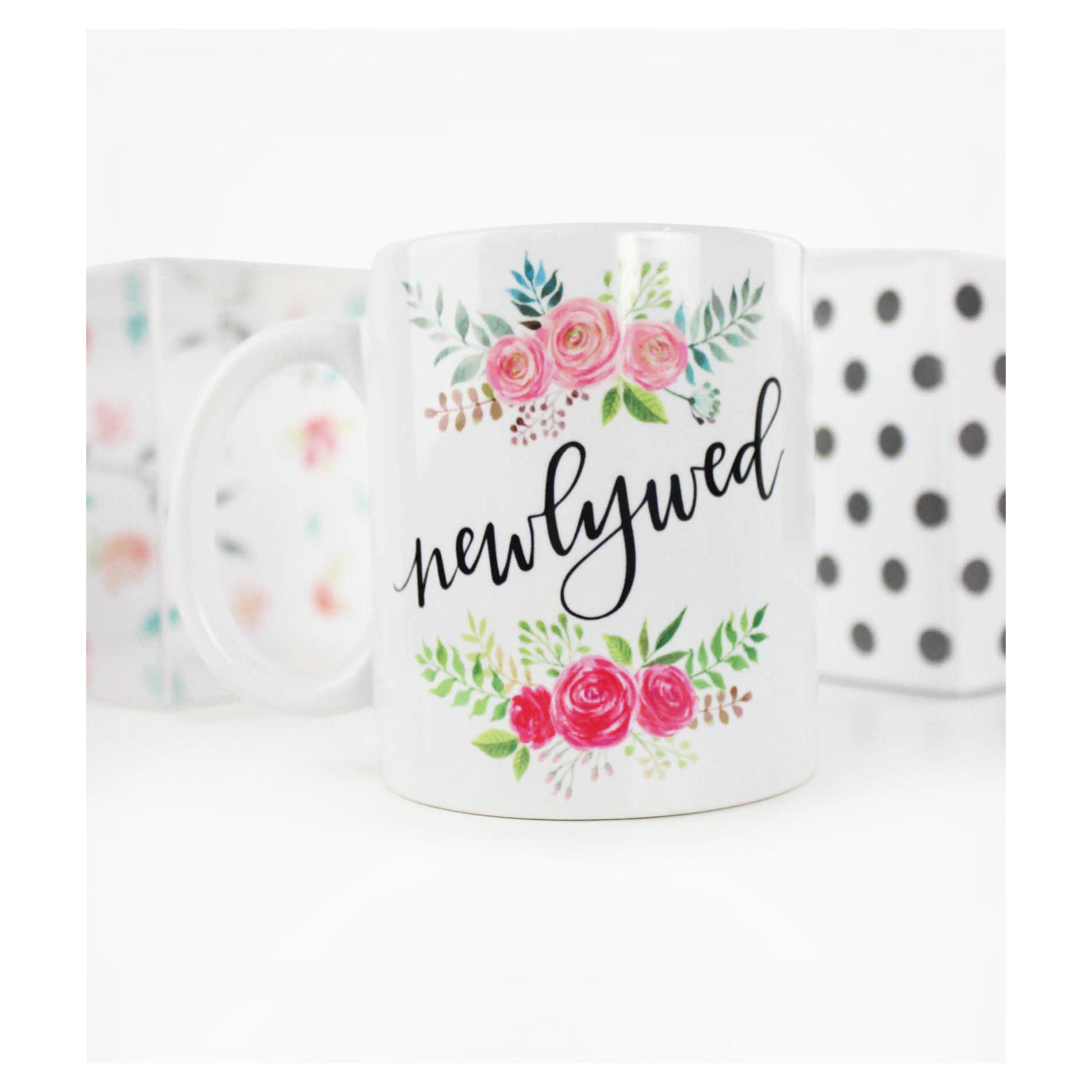 the paisley box newlywed floral mug