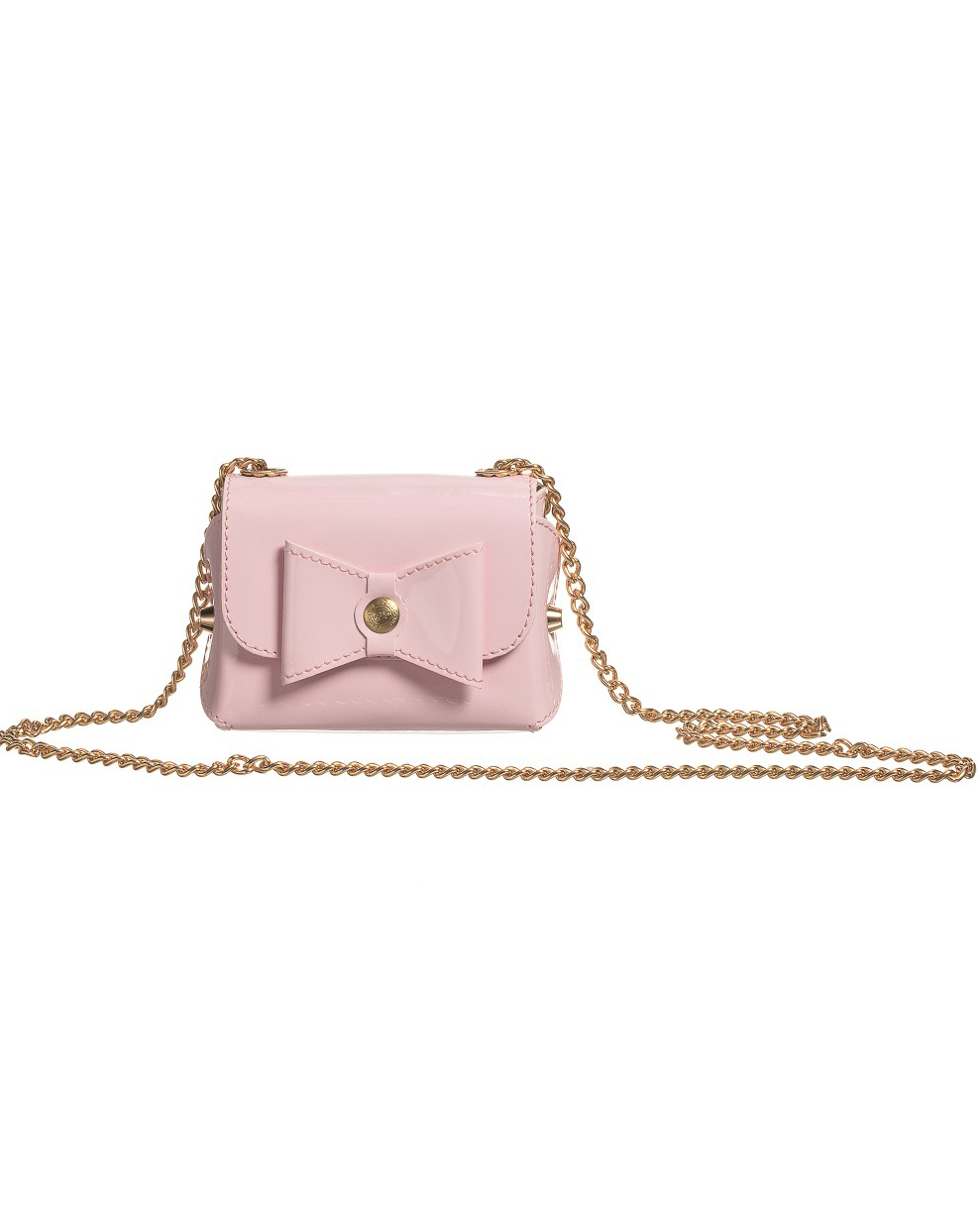 light pink flower girls purse with bow