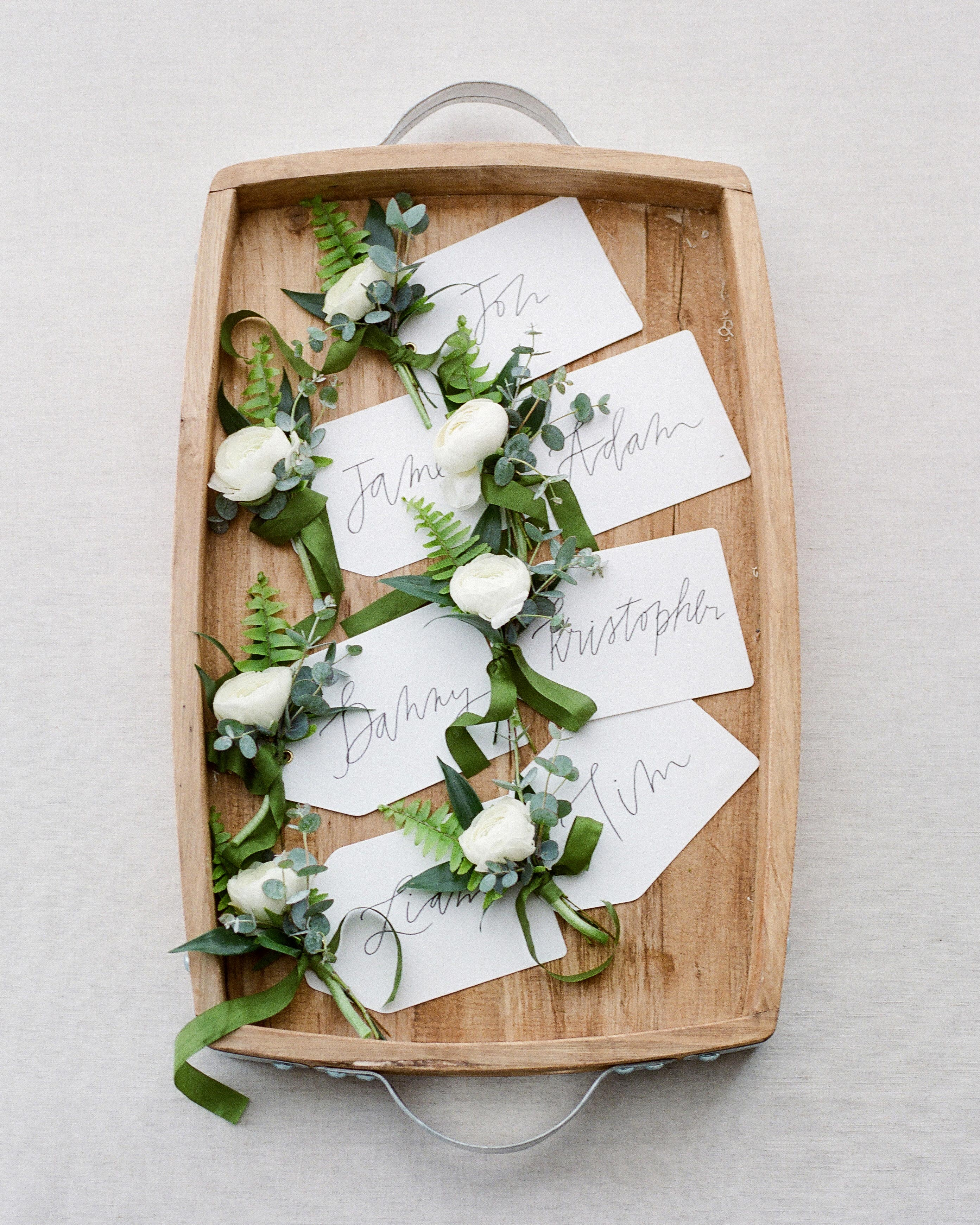 chrissy and jons wedding boutonnieres