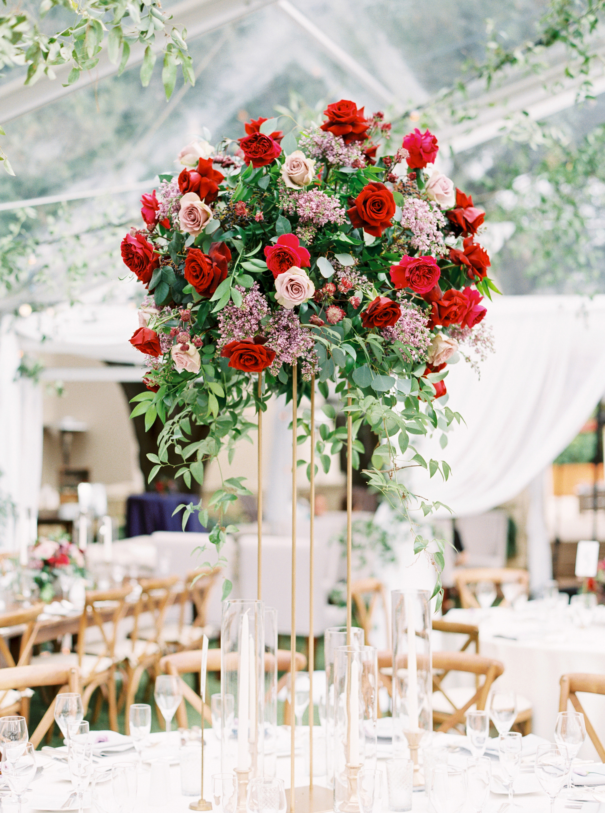 29 Tall Centerpieces That Will Take Your Reception Tables to New Heights