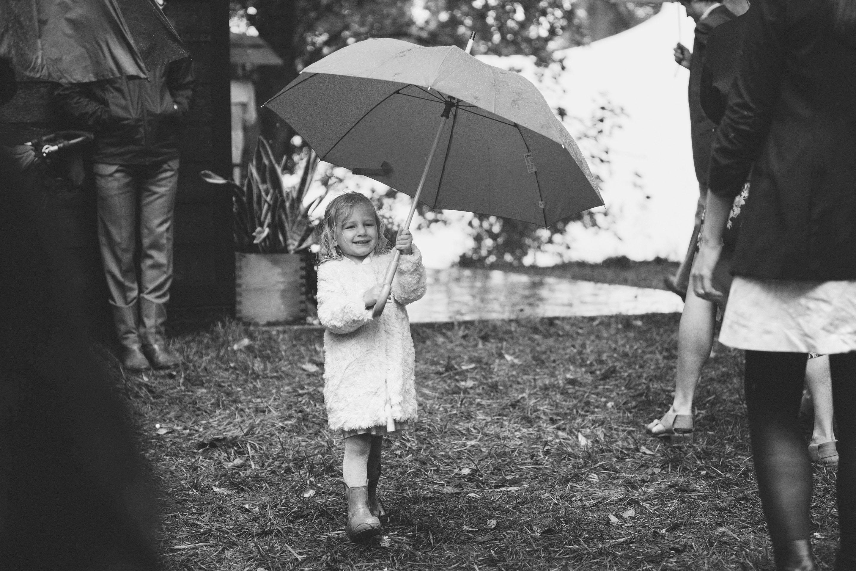 jessie tristan wedding tennessee child guest umbrella