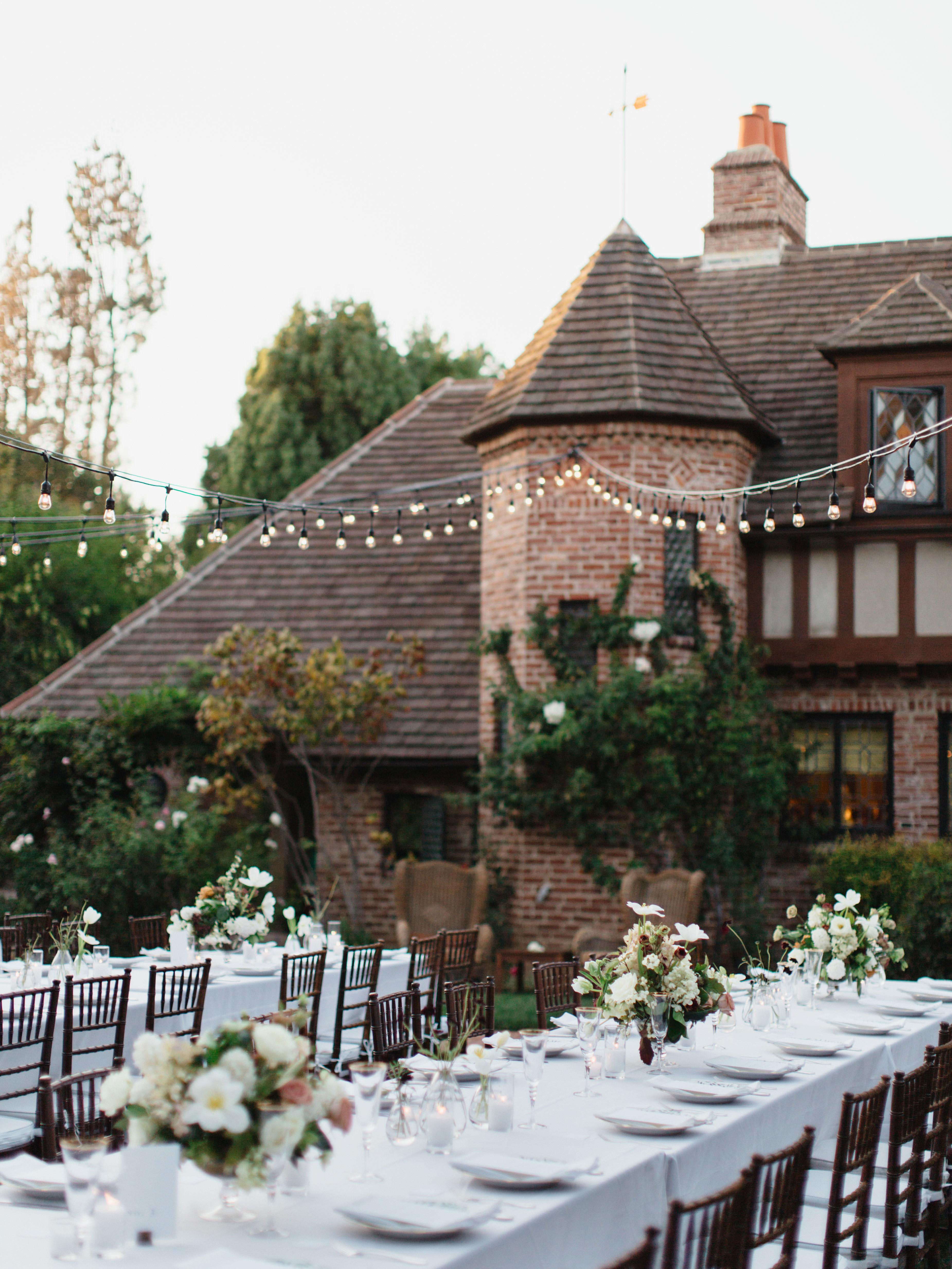 Backyard reception