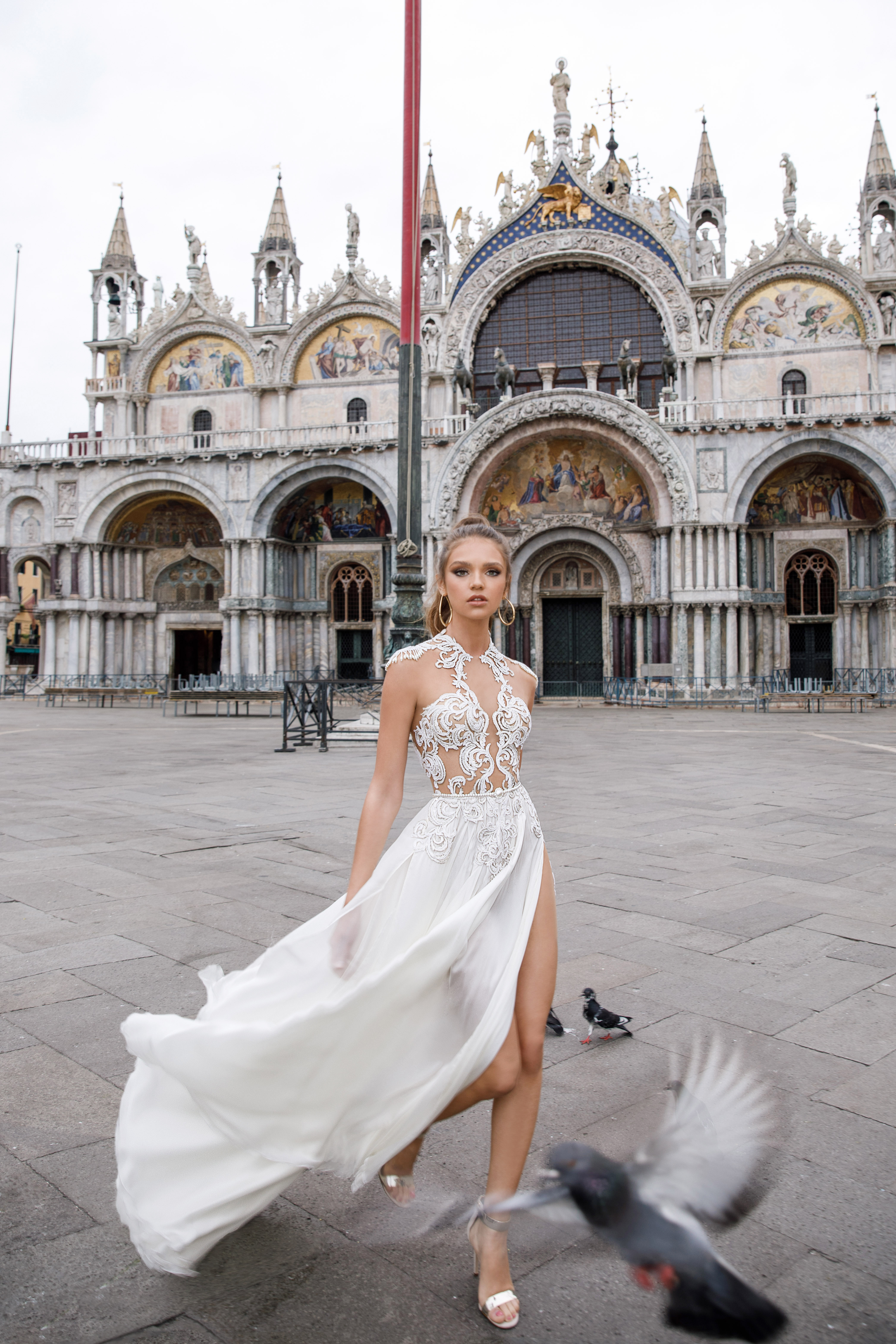 high neck sheath julie vino wedding dress spring2018
