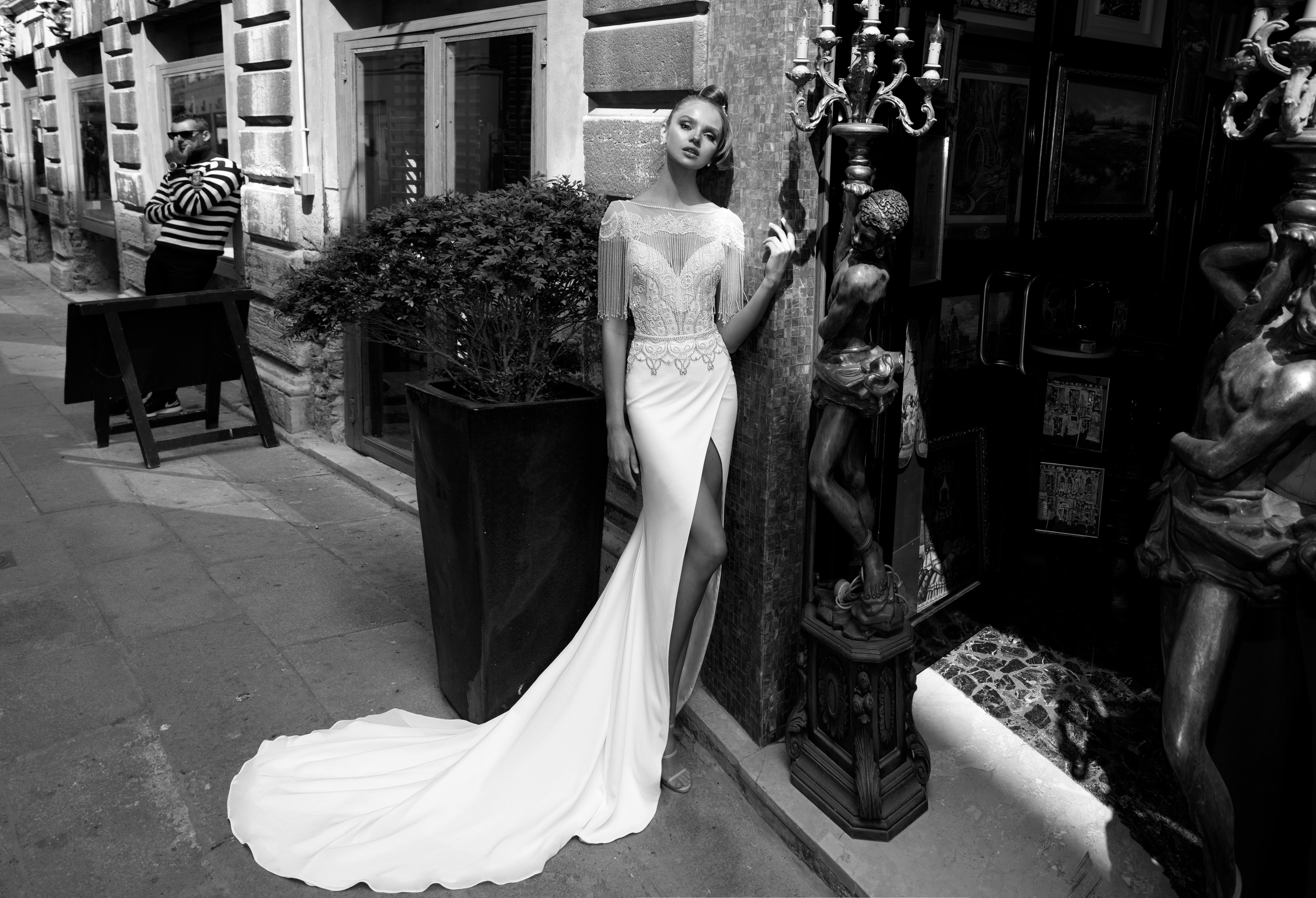 sweetheart neckline with spaghetti straps julie vino wedding dress spring2018