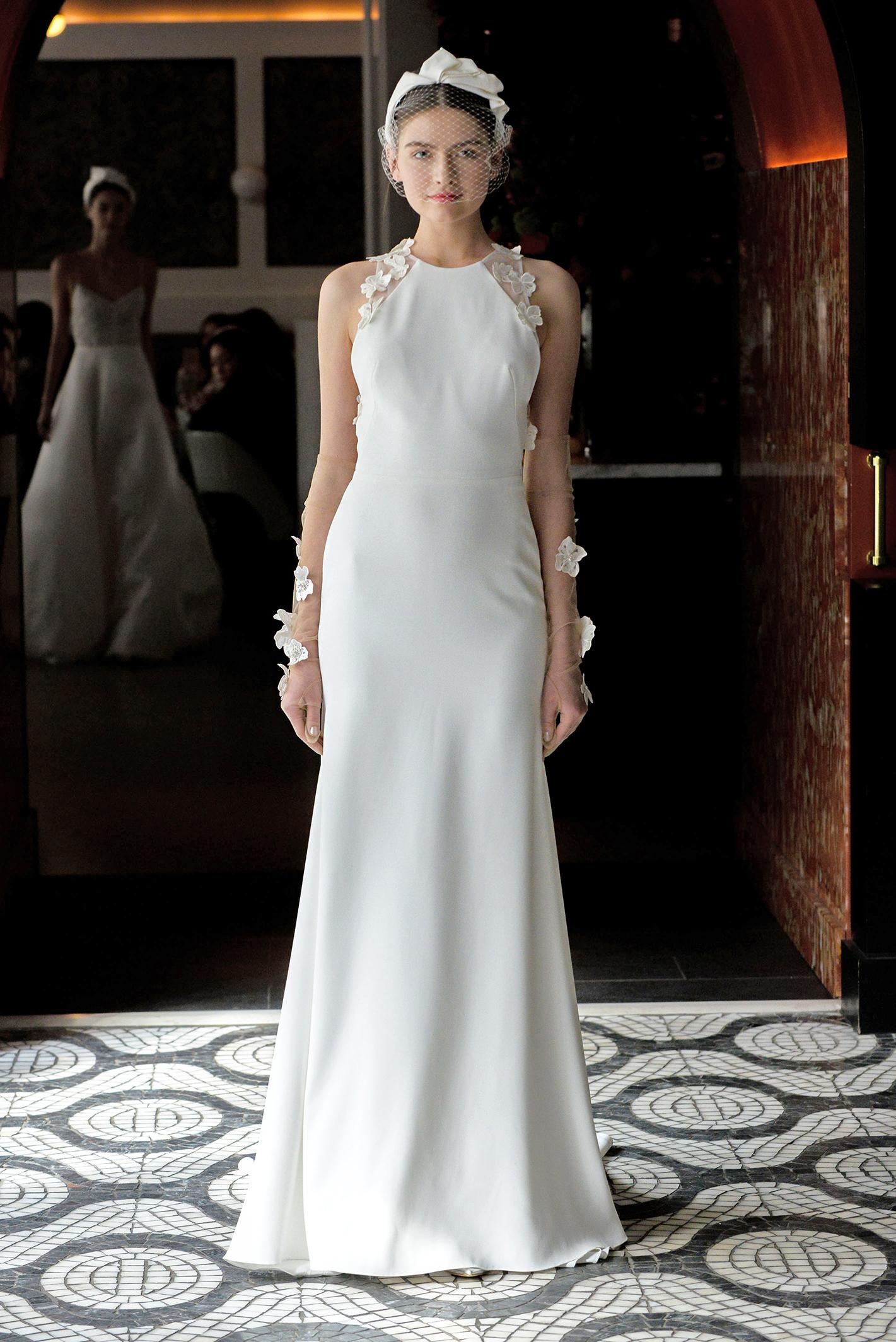 lela rose wedding dress spring 2018 high neck detail