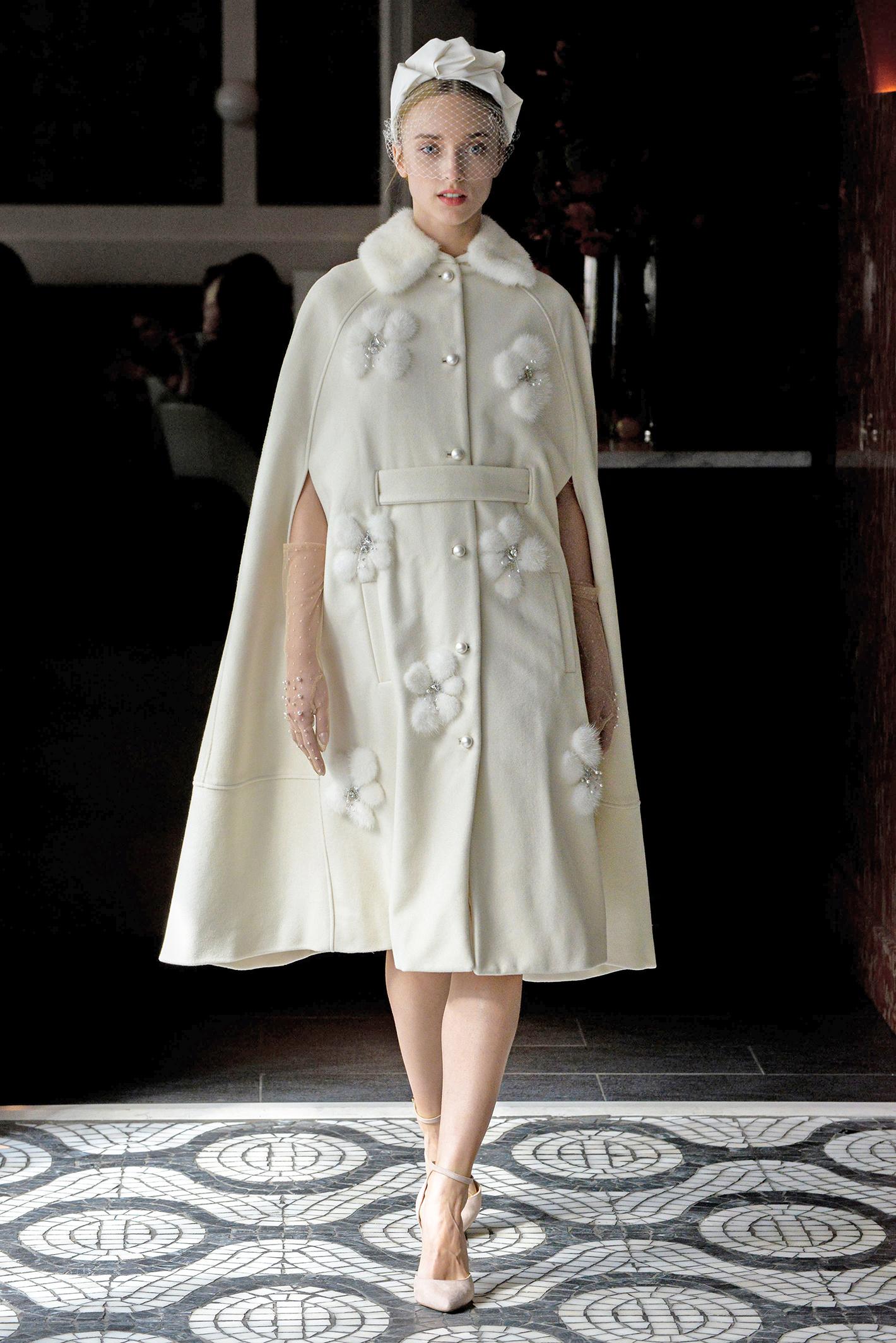 lela rose wedding dress spring 2018 collar belted button-up
