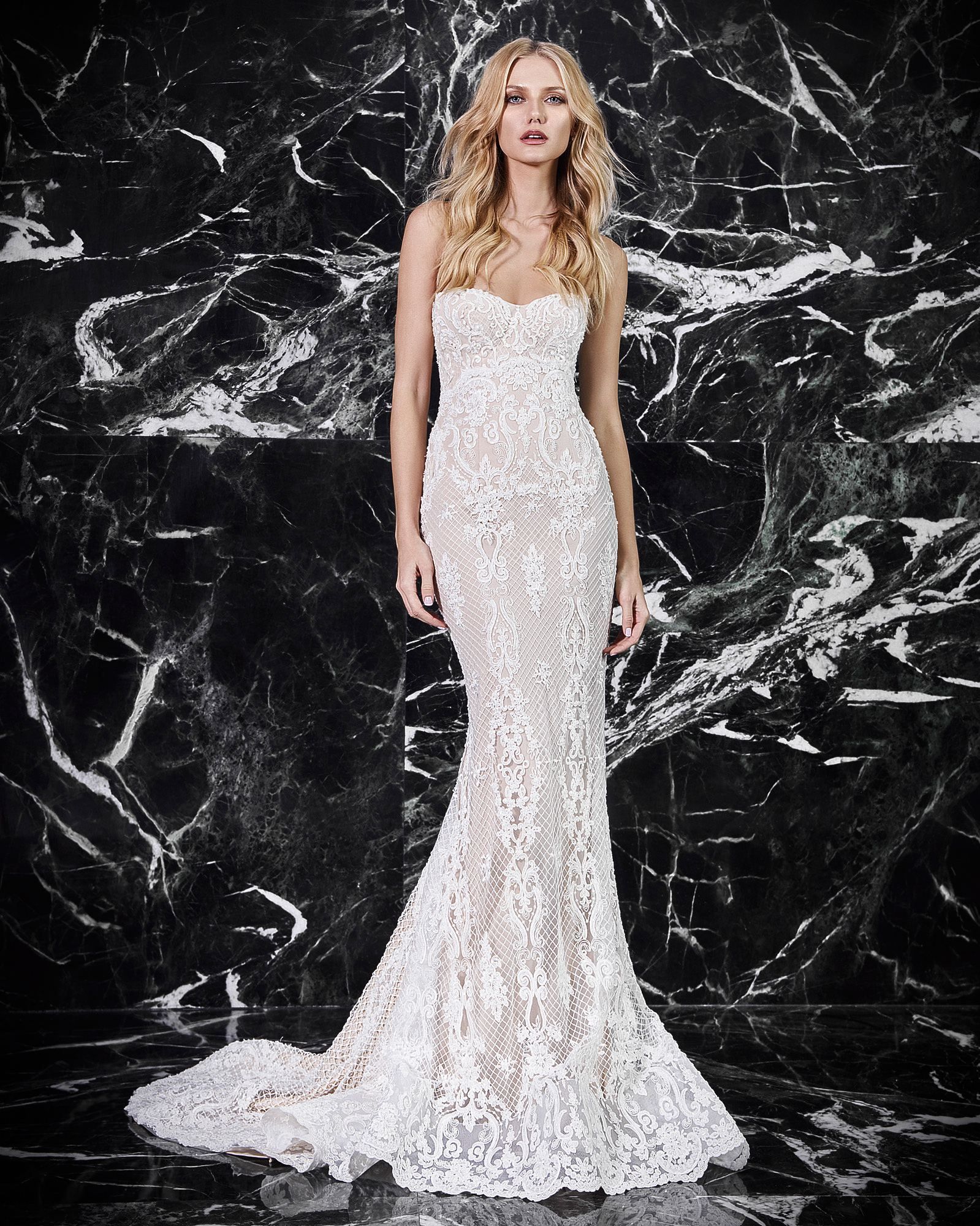 victoria kyriakides strapless wedding dress spring 2018