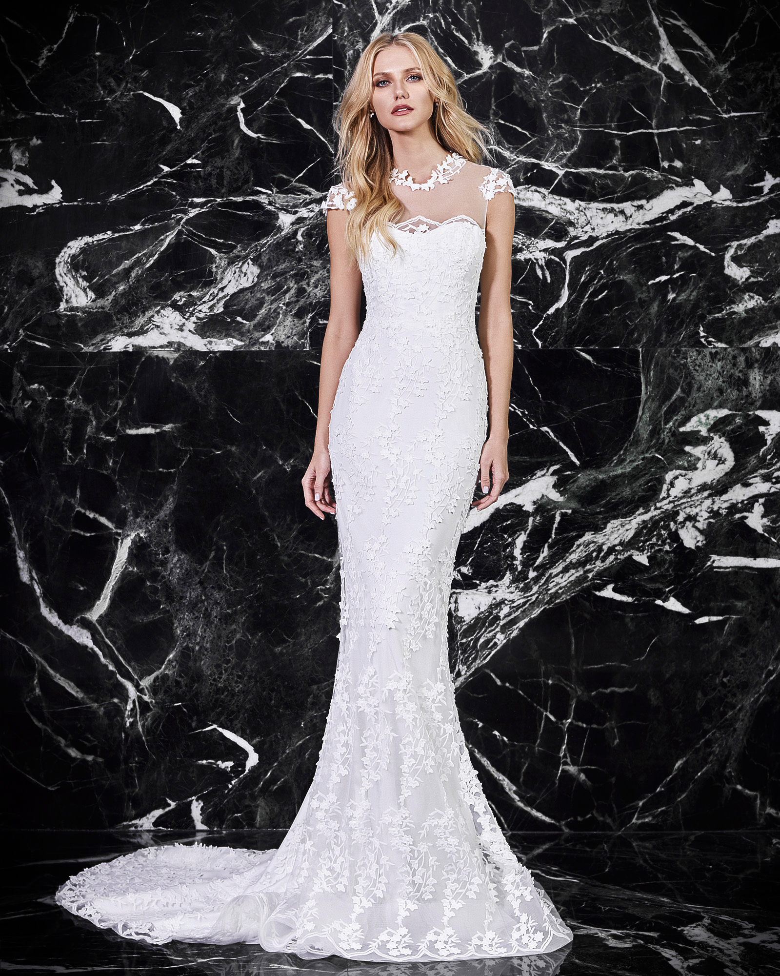 victoria kyriakides cap sleeve wedding dress spring 2018