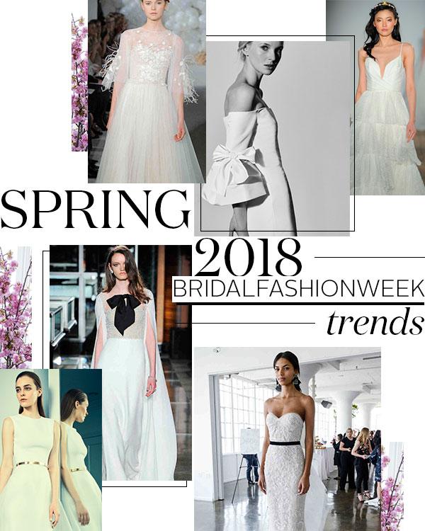 Spring 2018 Bridal Fashion Week Trends