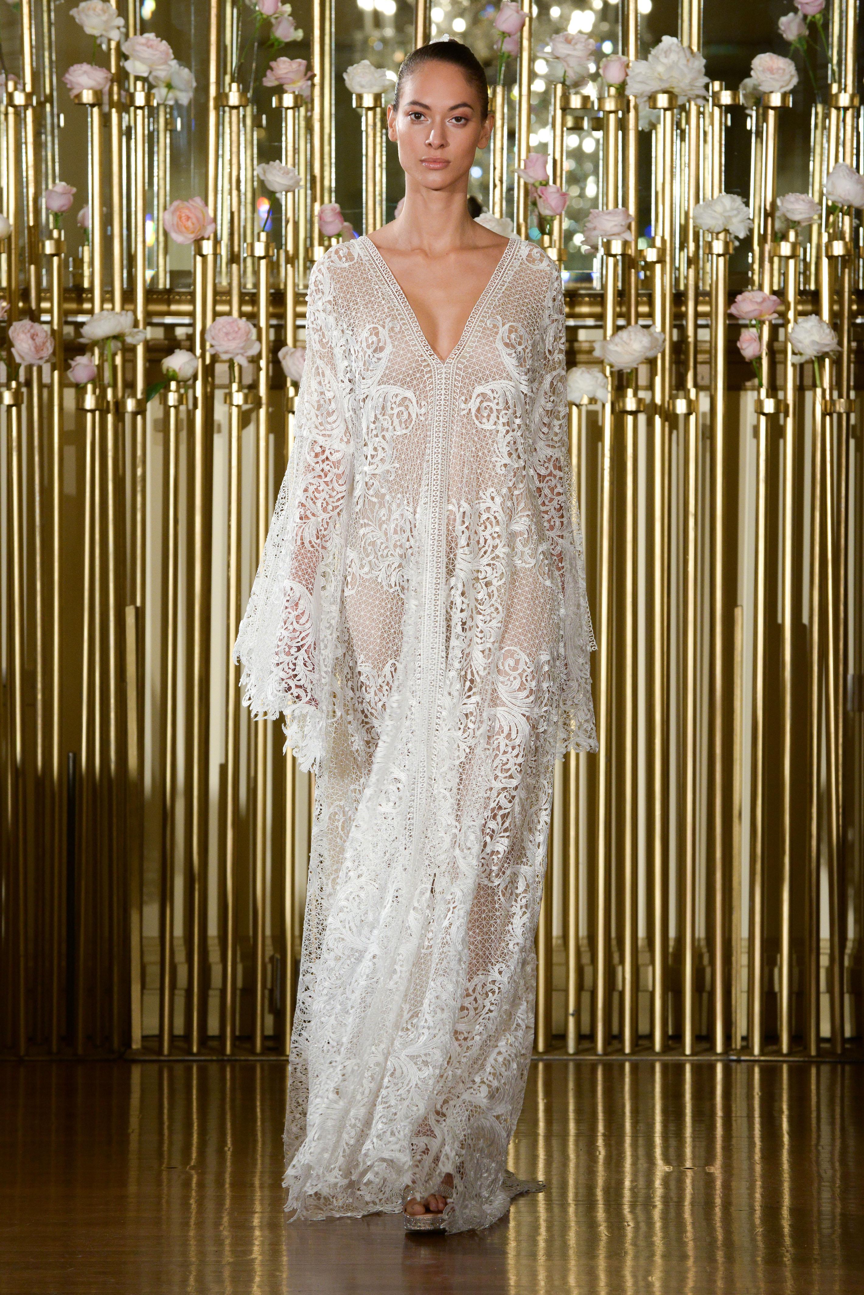 Francesca Miranda Sheath Wedding Dress with Long Sleeves Spring 2018