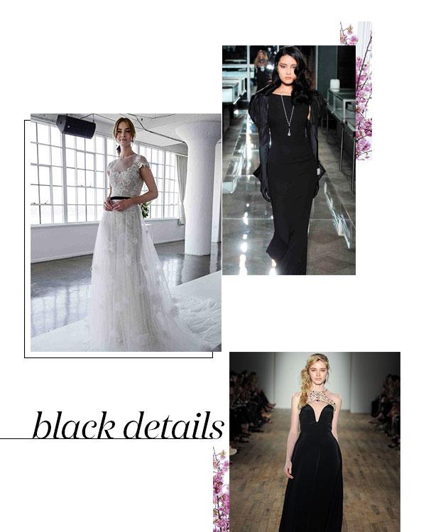 Spring 2018 Bridal Fashion Week Black Details Trend