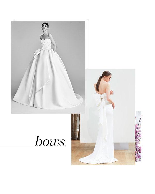 Spring 2018 Bridal Fashion Week Bow Trend
