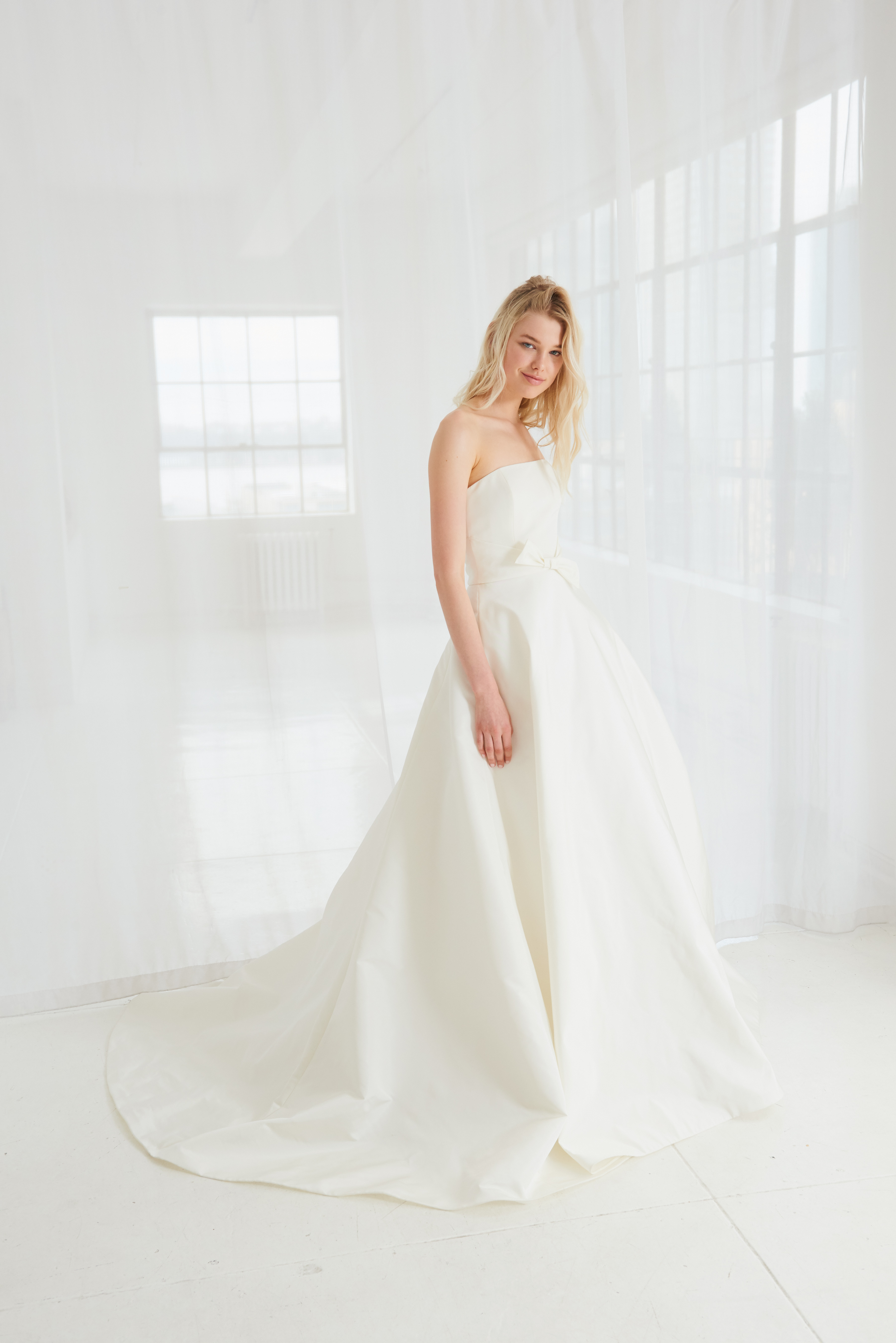 amsale strapless ball gown wedding dress spring 2018