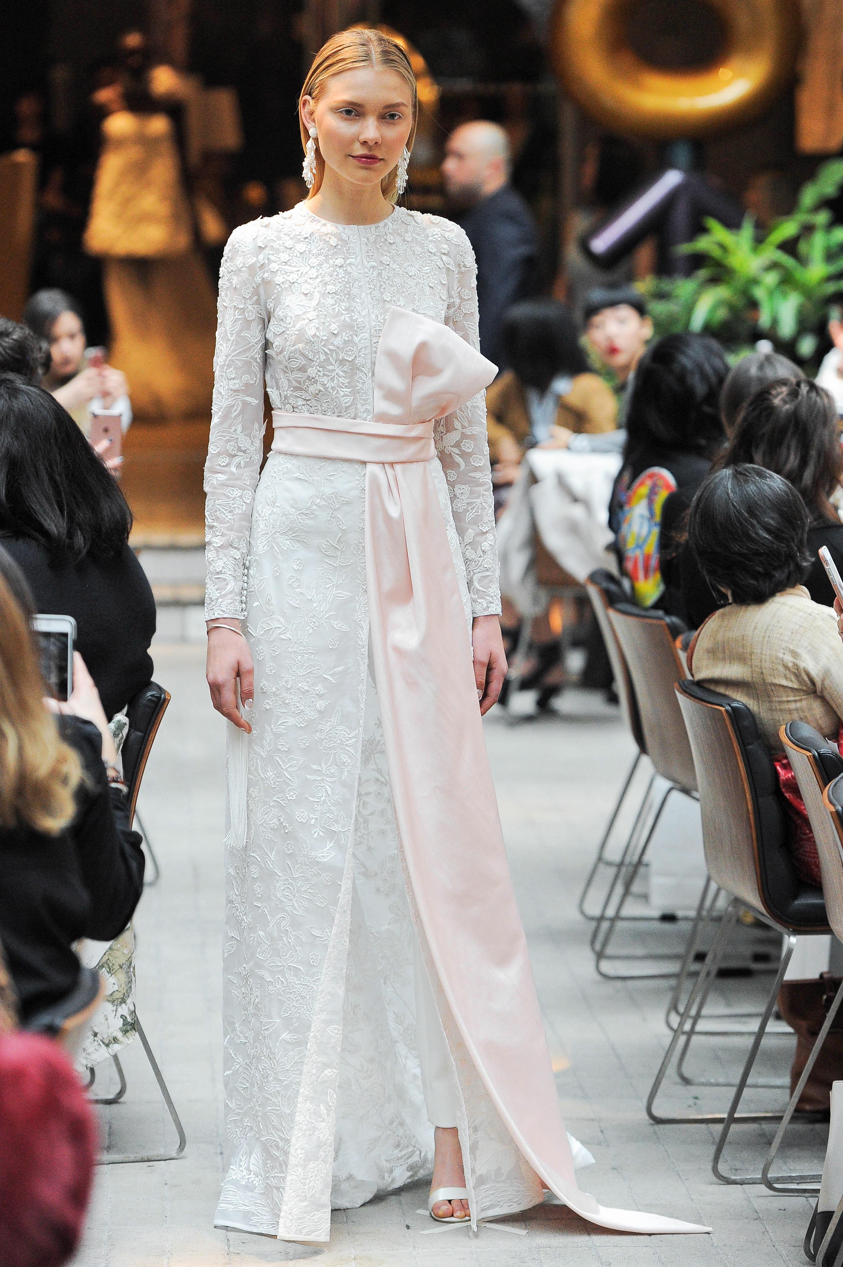 sachin and babi long sleeves high neck wedding dress spring 2018