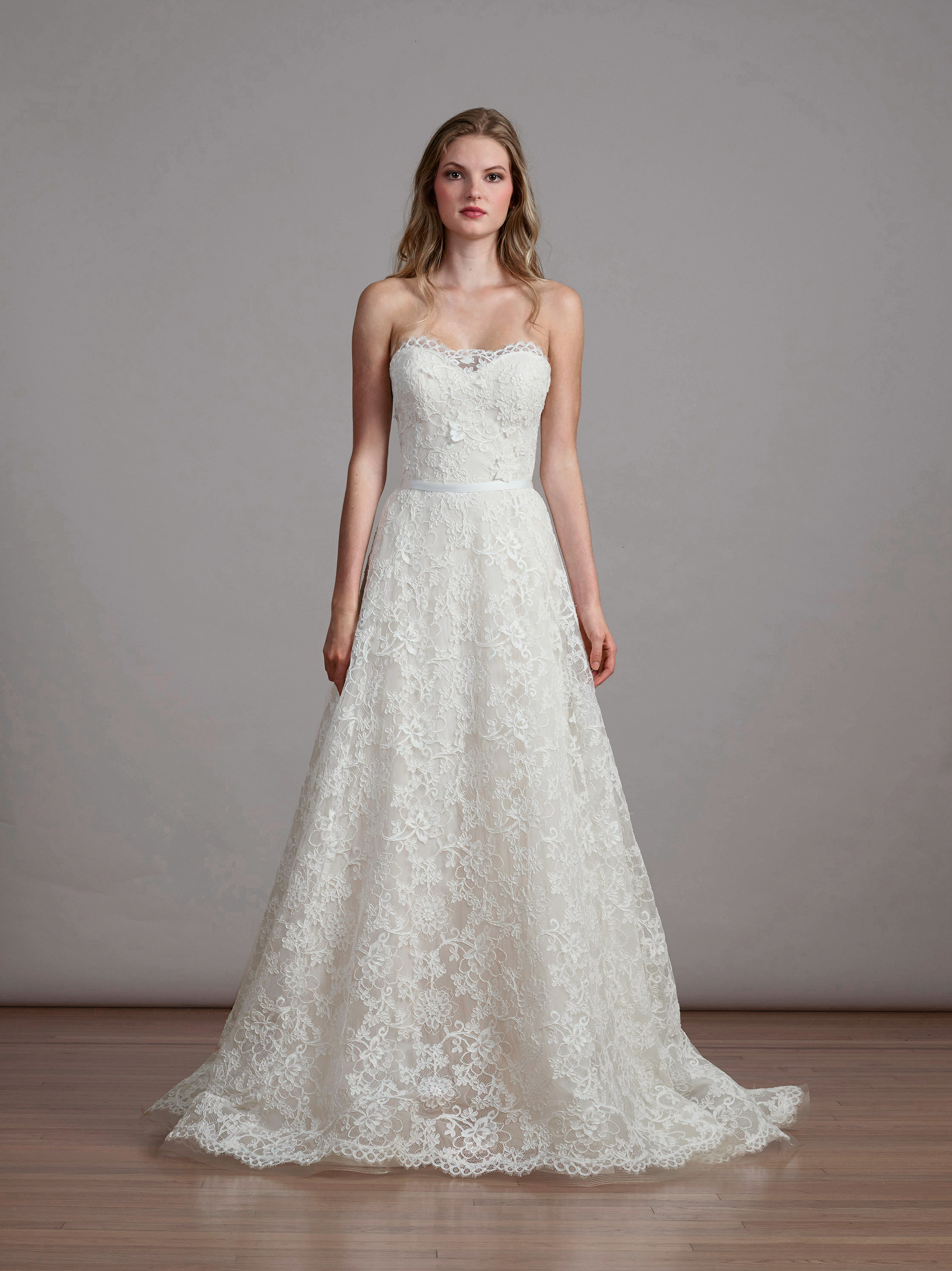 lace liancarlo strapless wedding dress spring 2018