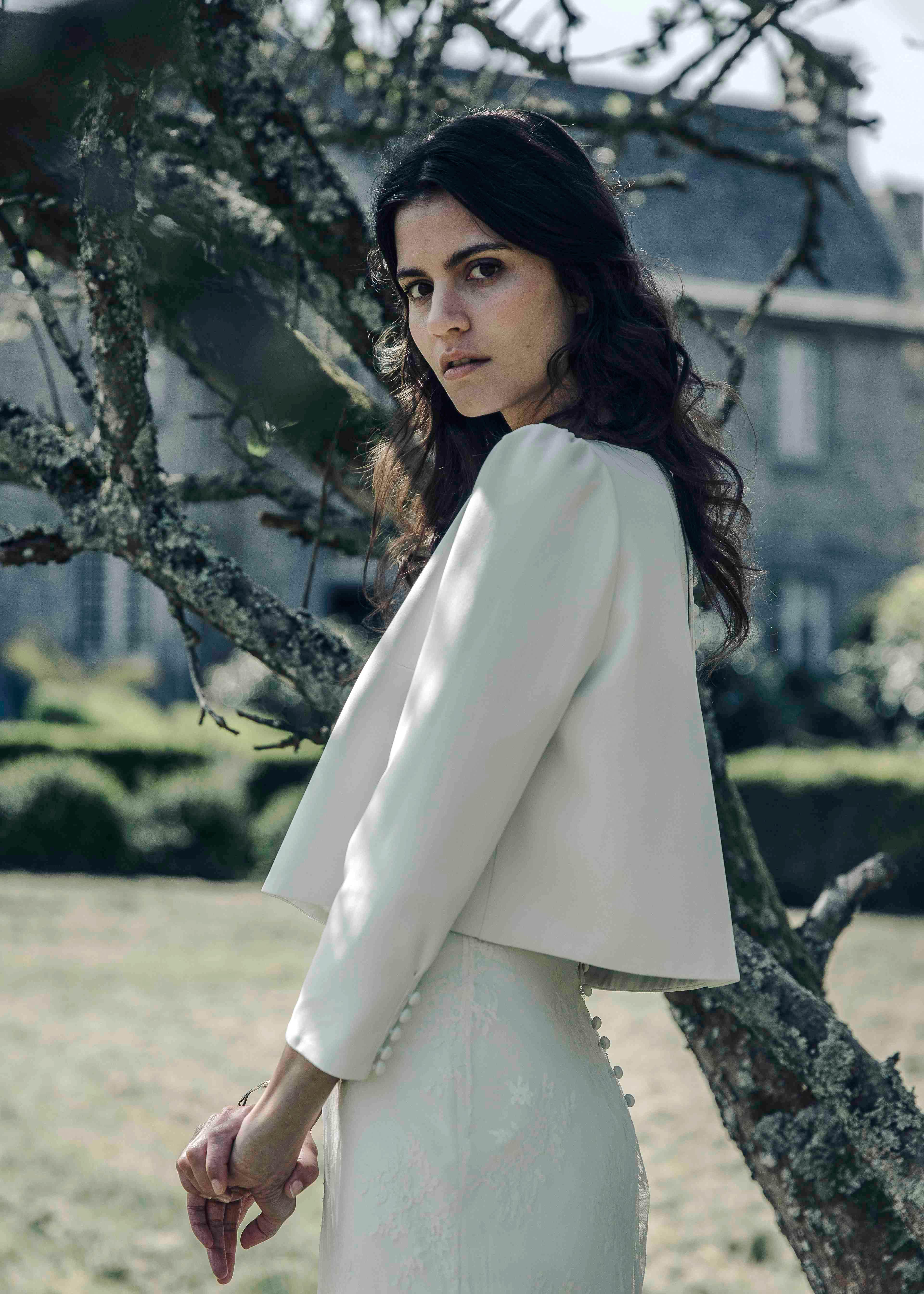 laure de sagazan jacket spring 2018 wedding dress