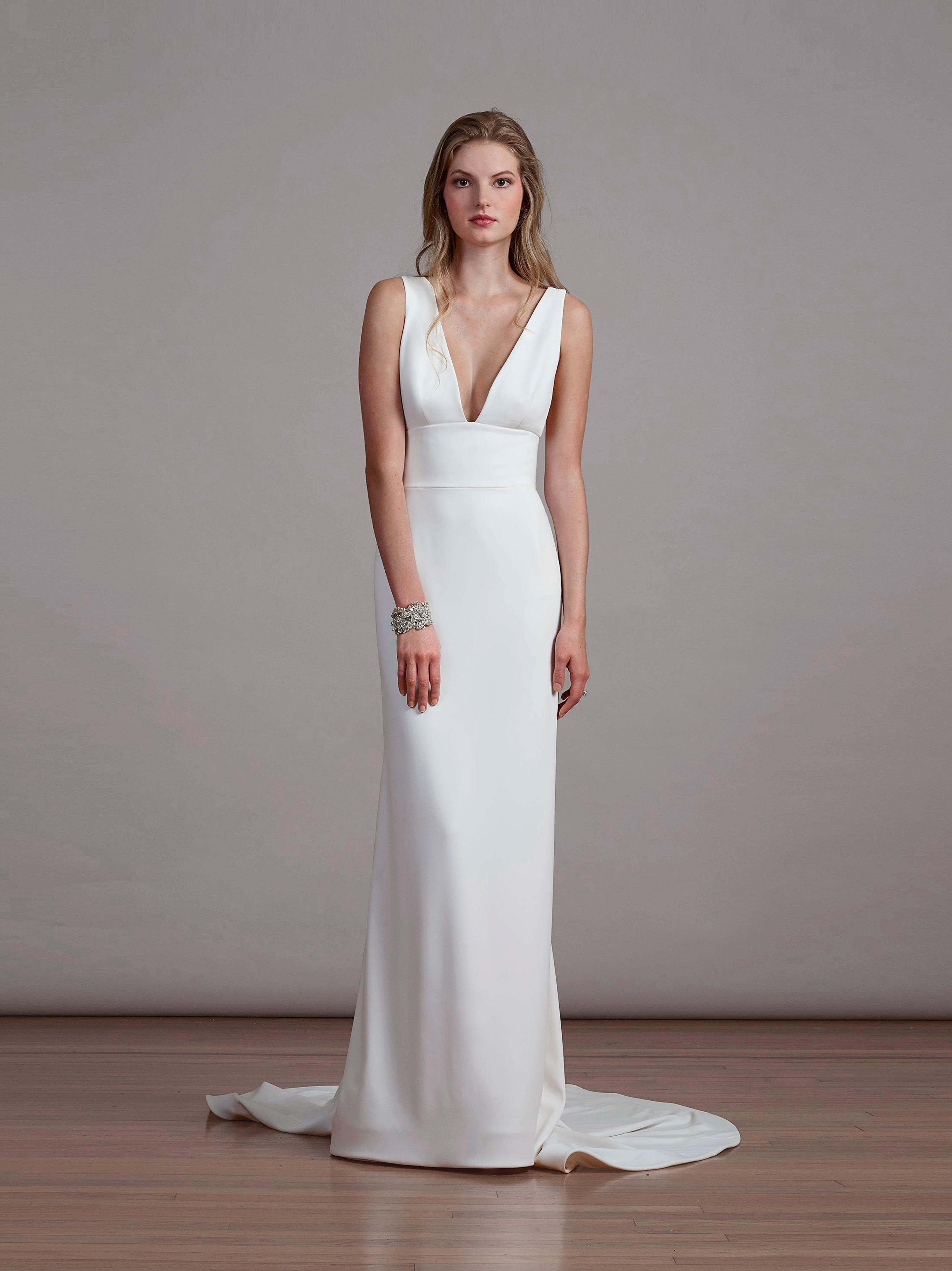 liancarlo v-neck wedding dress
