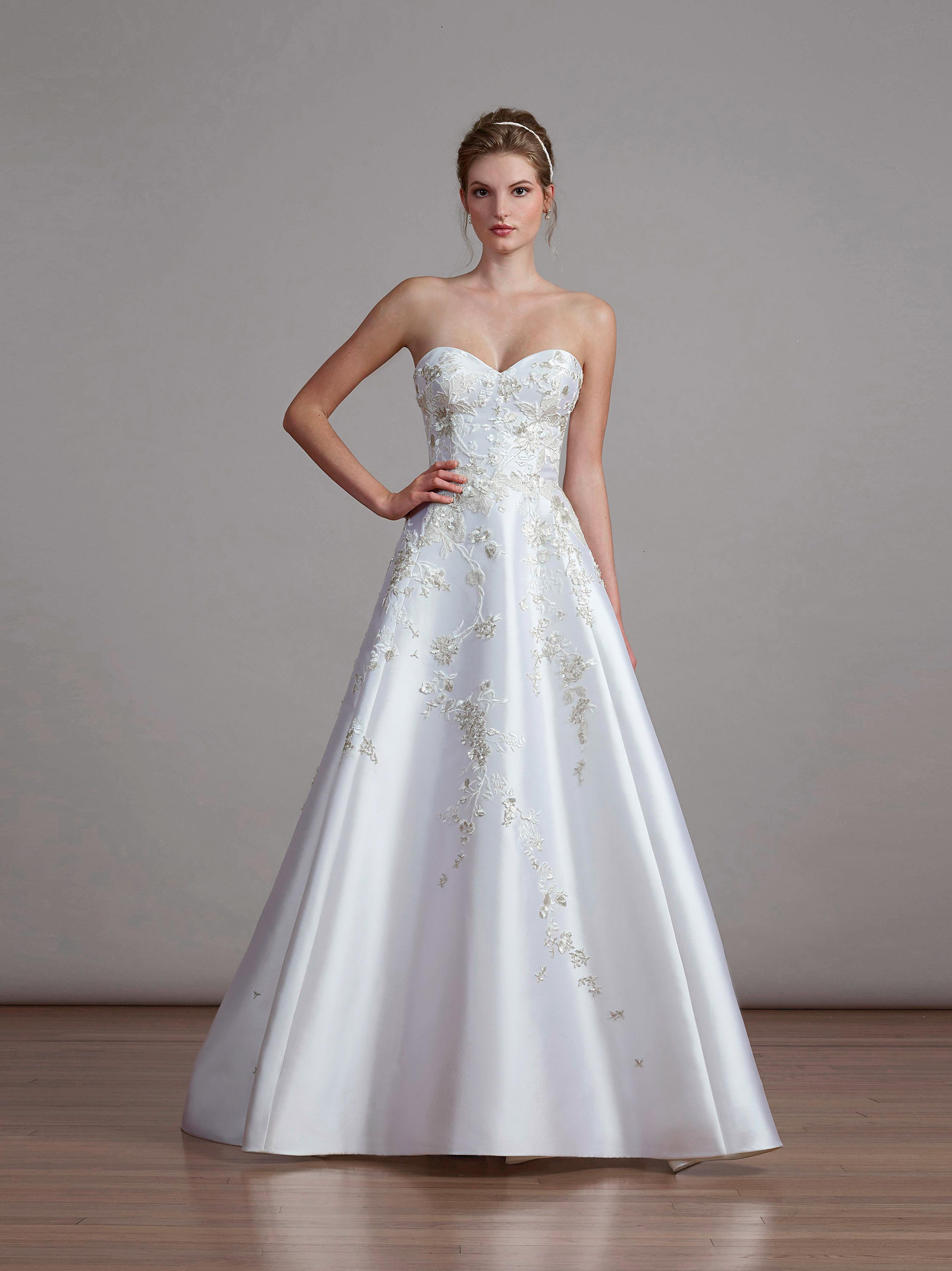 liancarlo spring 2018 a-line strapless wedding dress