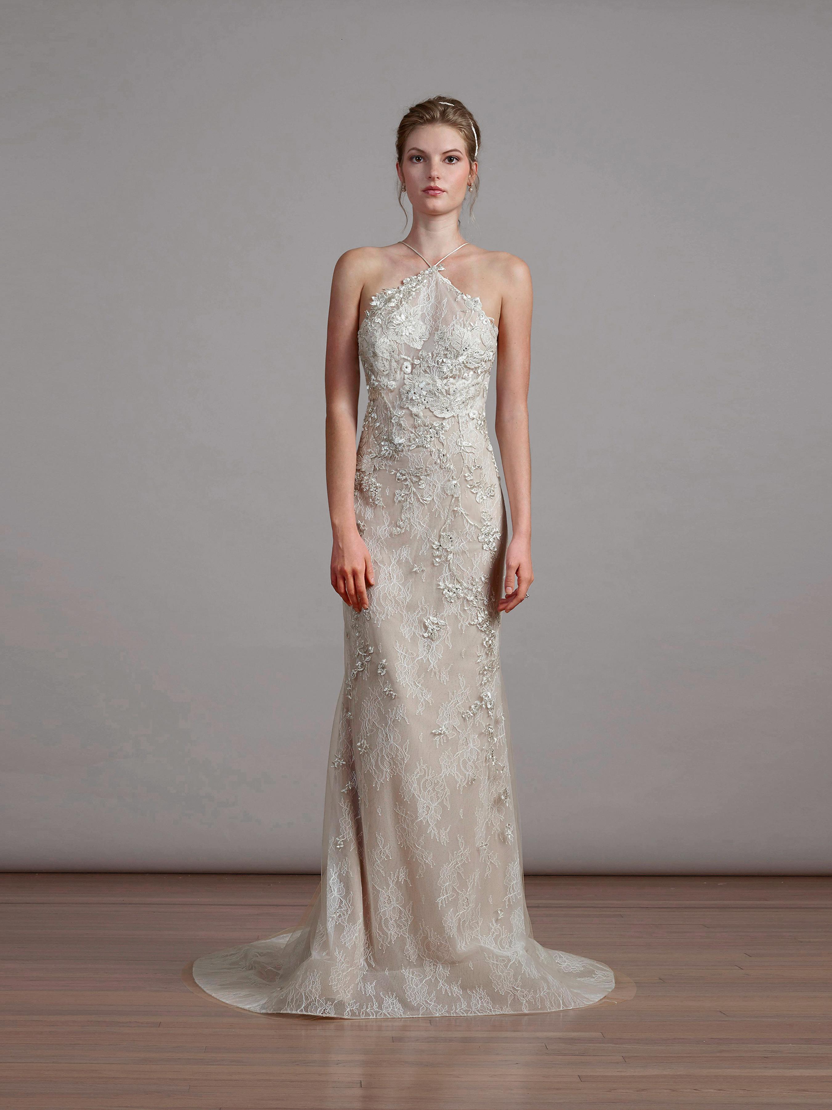 liancarlo spring 2018 halter wedding dress