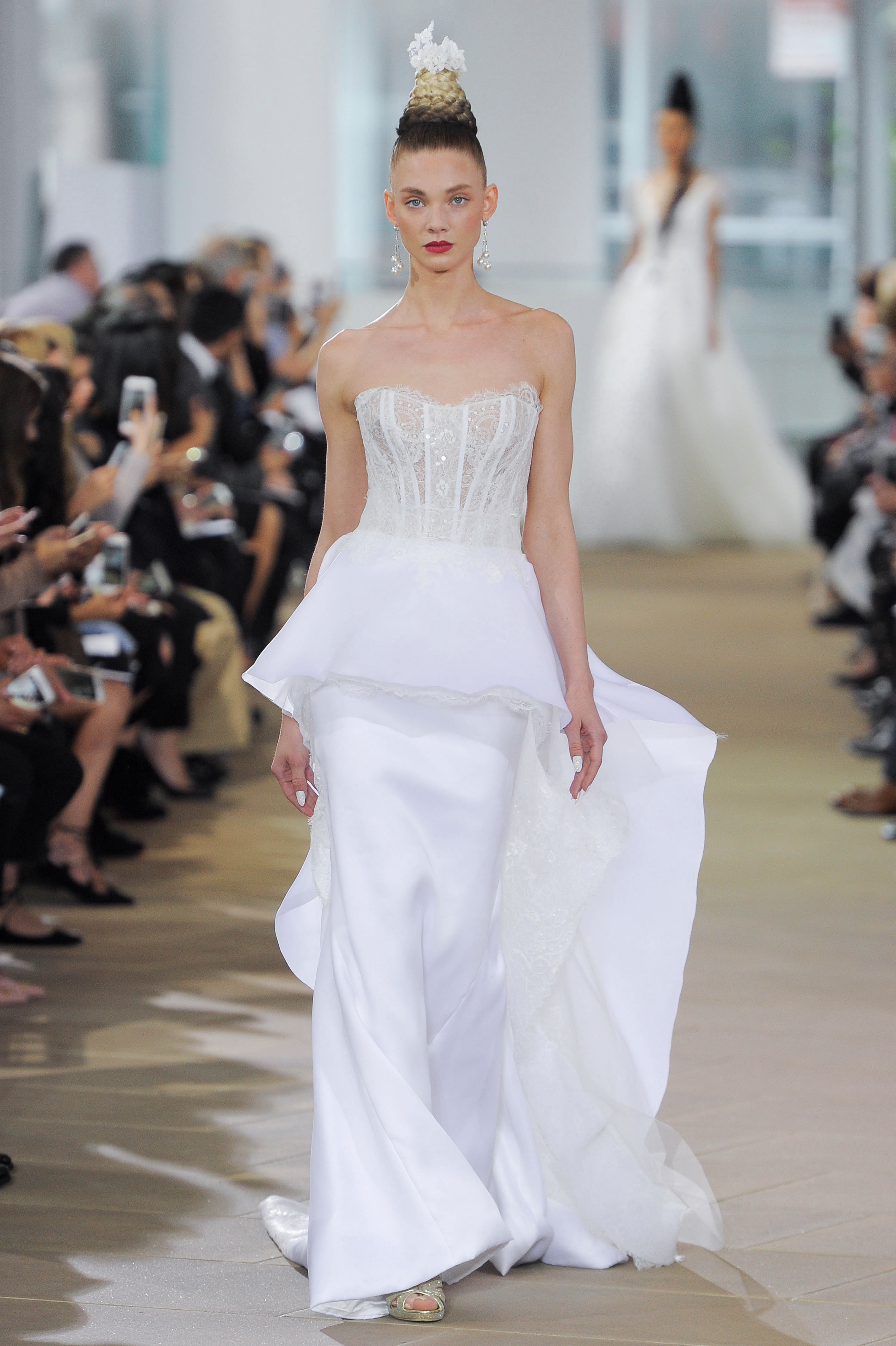Strapless Ines Di Santo Wedding Dress with Sweetheart Neckline Spring 2018