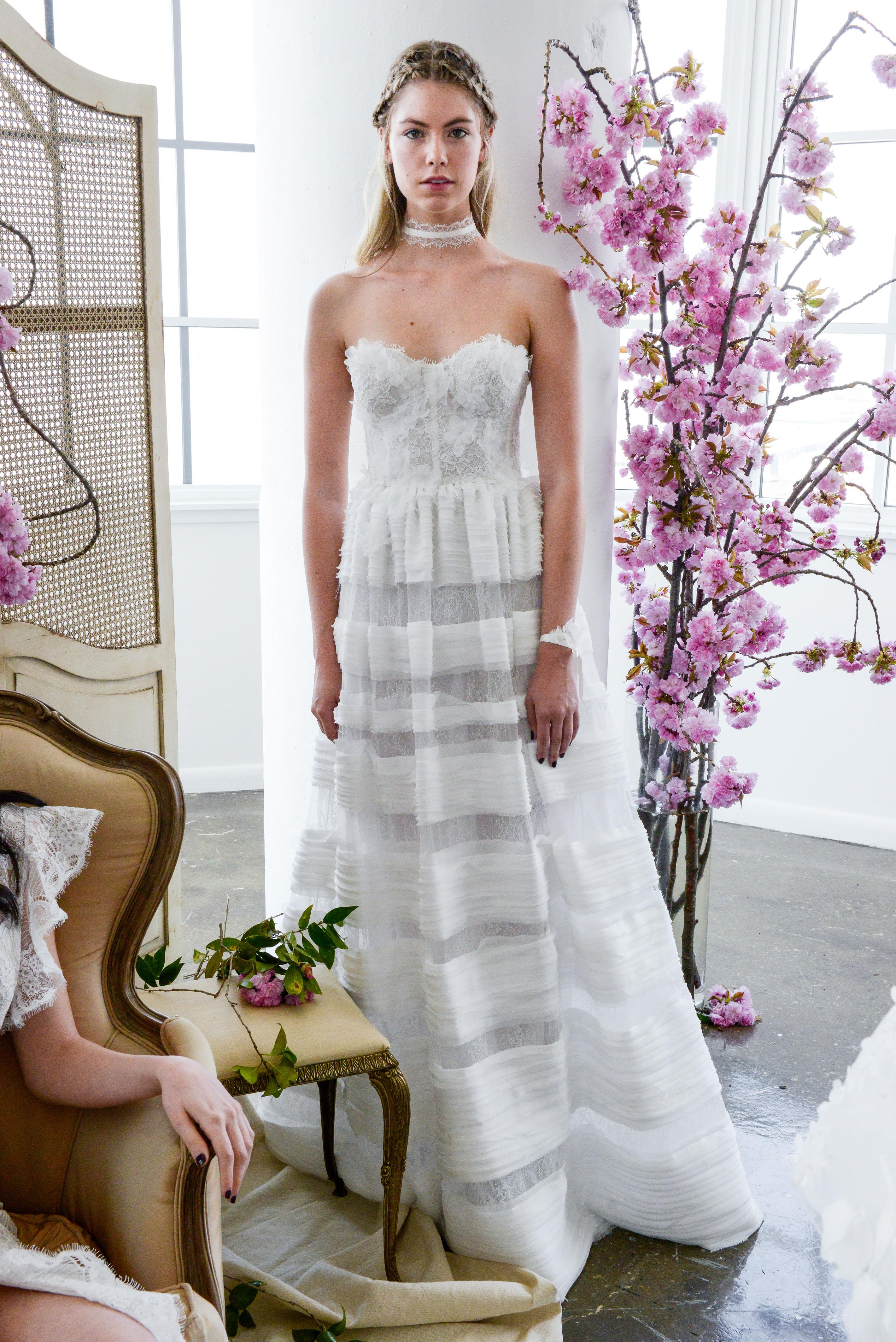 sweetheart a-line marchesa wedding dress spring 2018
