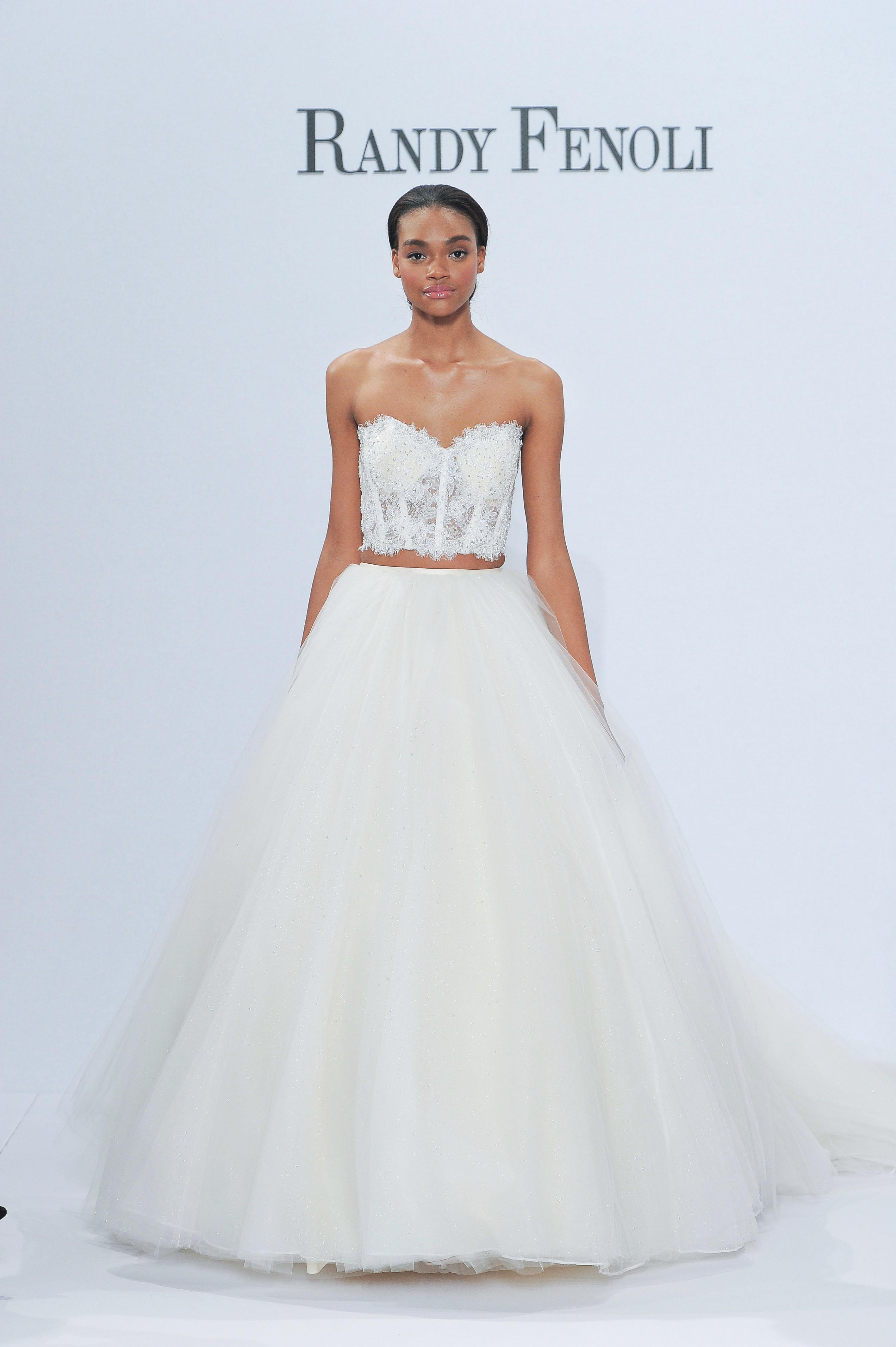 randy fenoli tan bare midriff wedding dress spring 2018
