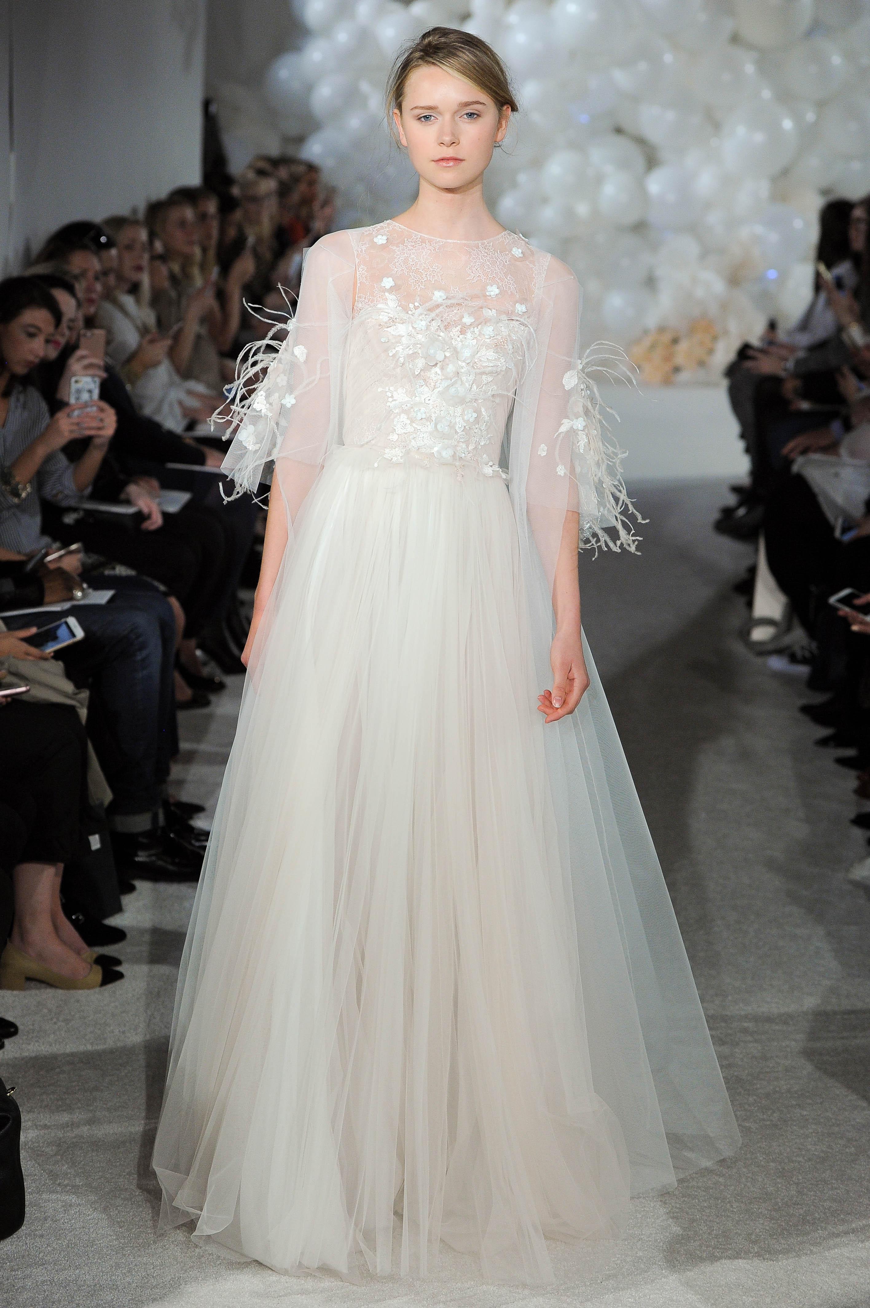 mira zwillinger wedding dress spring 2018 three-quarter length sleeves illusion
