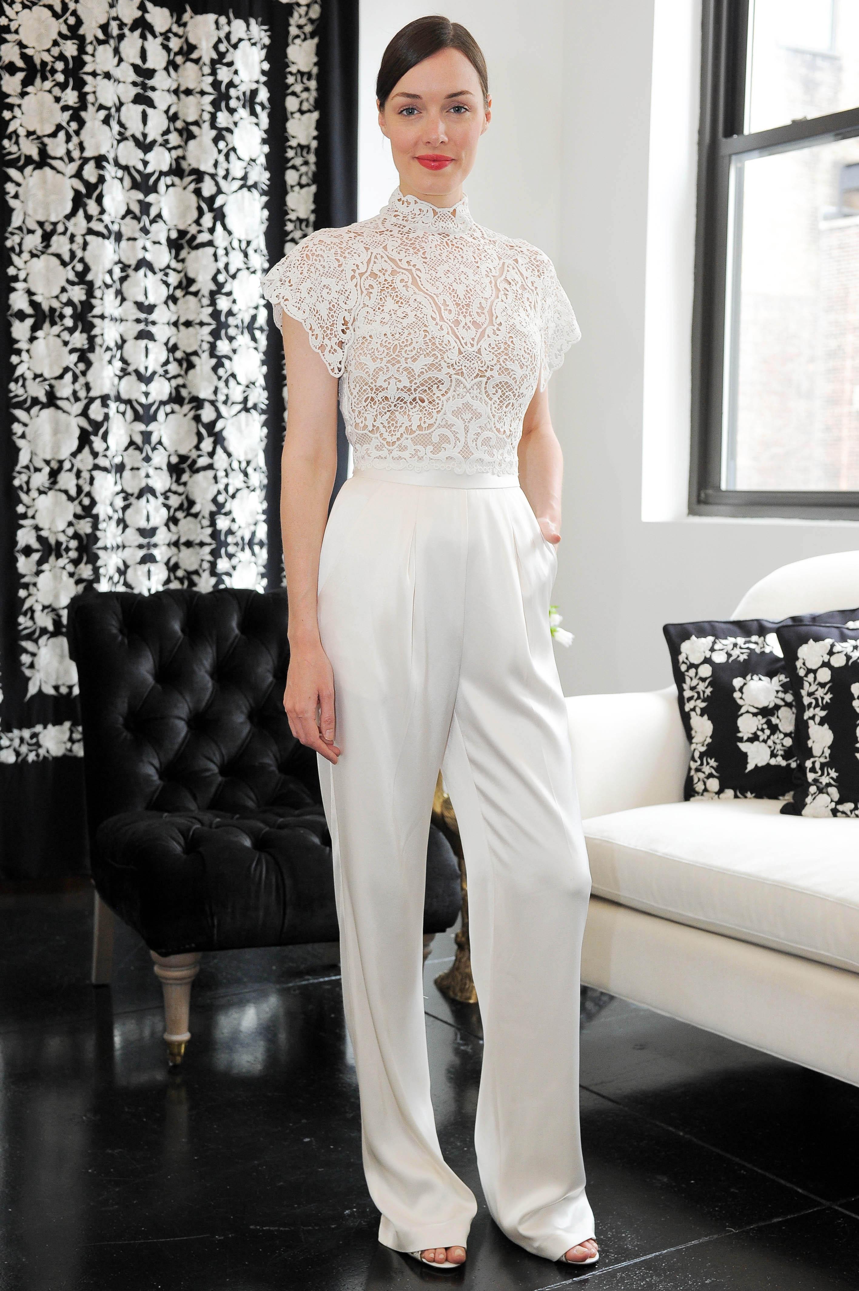 high neck short sleeve catherine deane wedding dress spring 2018