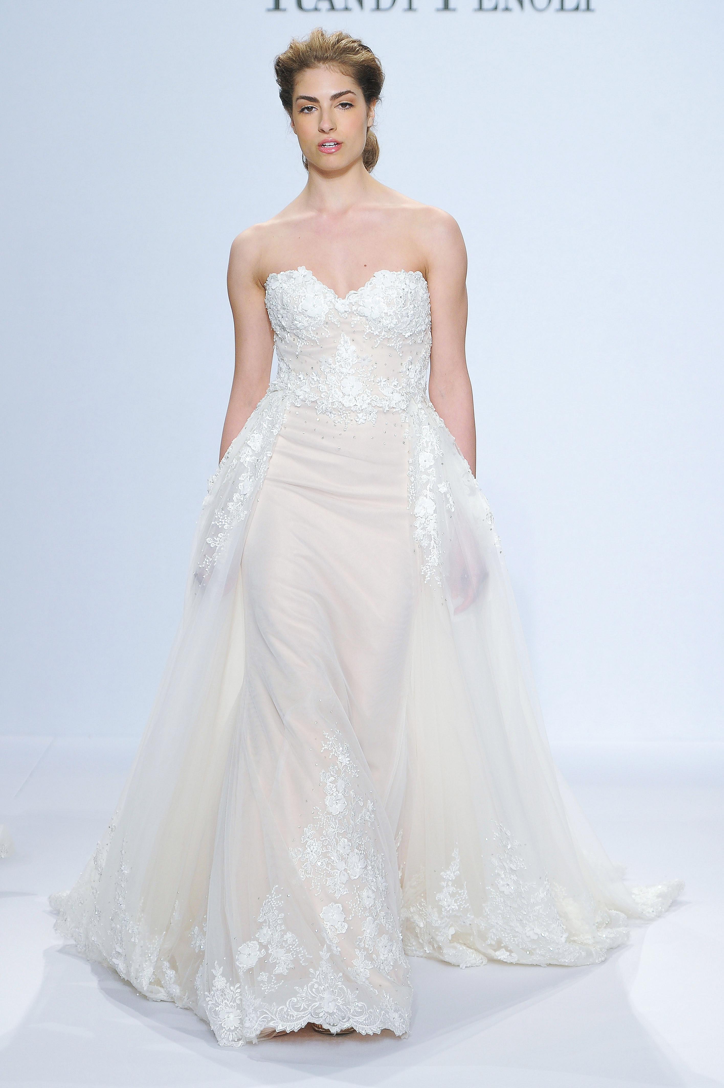 randy fenoli strapless wedding dress spring 2018