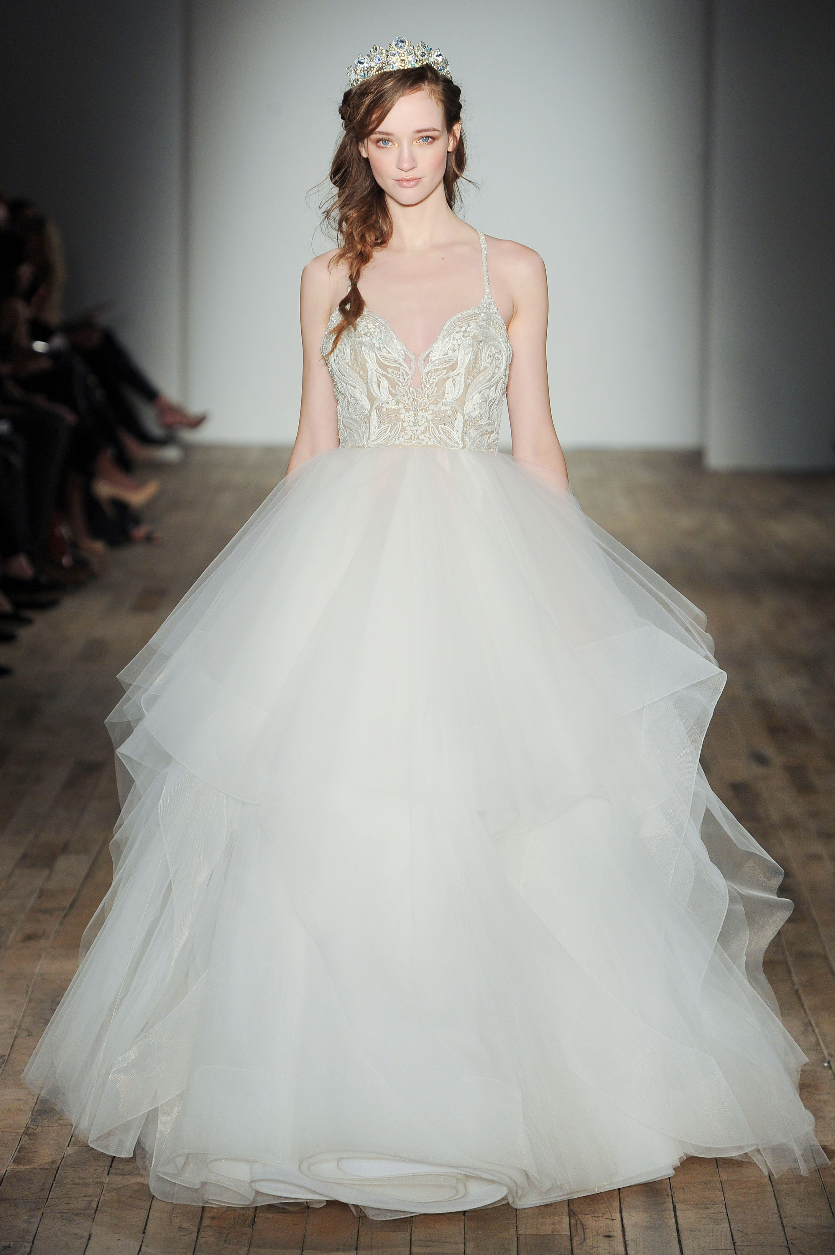 spaghetti strap ball gown Hayley Paige Spring 2018 Wedding Dress Collection