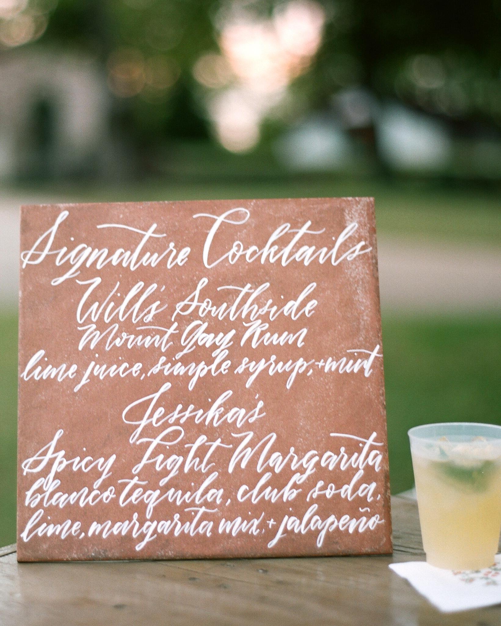jessika william wedding cocktails