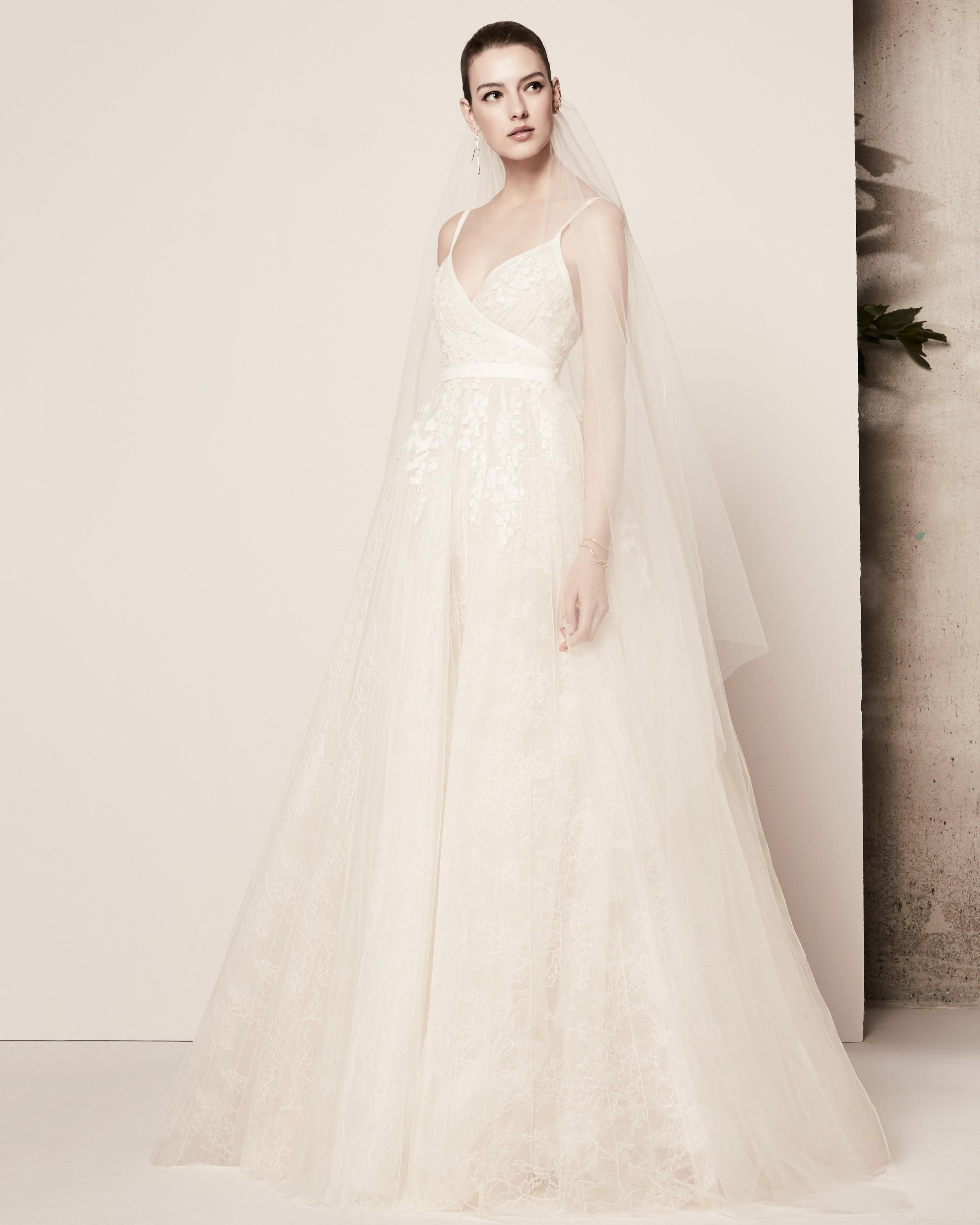 spaghetti strap a-line elie saab wedding dress spring 2018