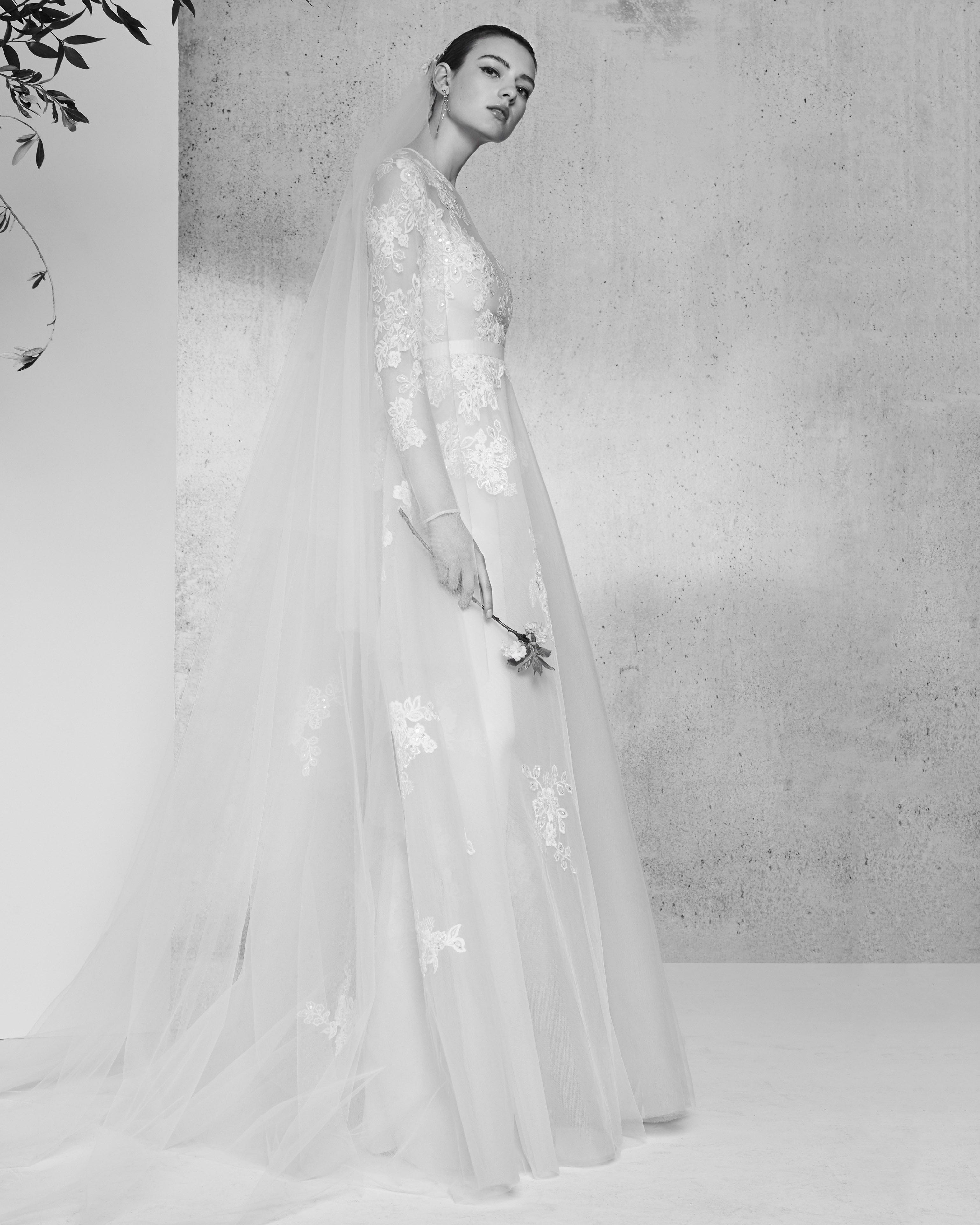 lace long sleeves elie saab wedding dress spring 2018