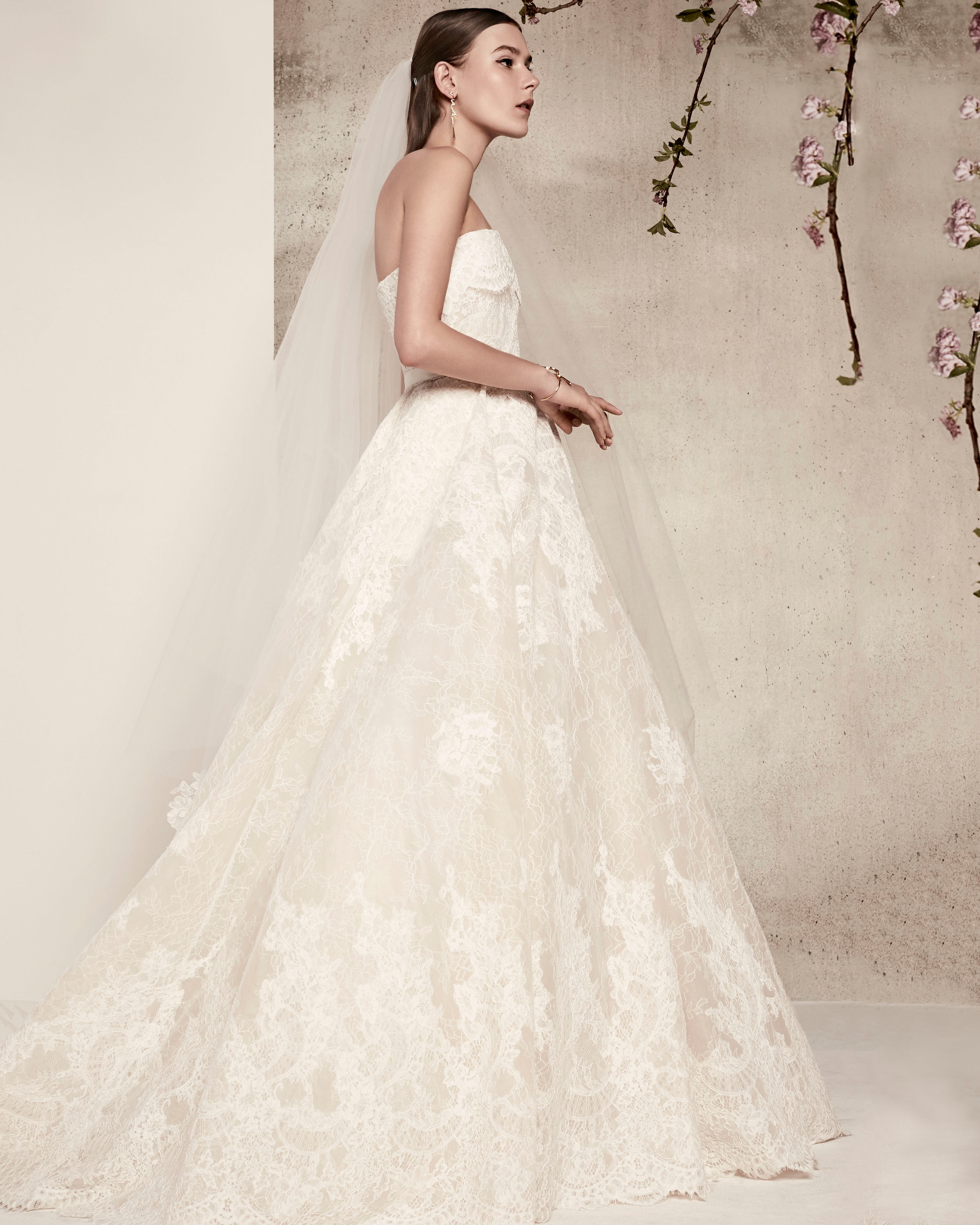 strapless lace elie saab wedding dress spring 2018