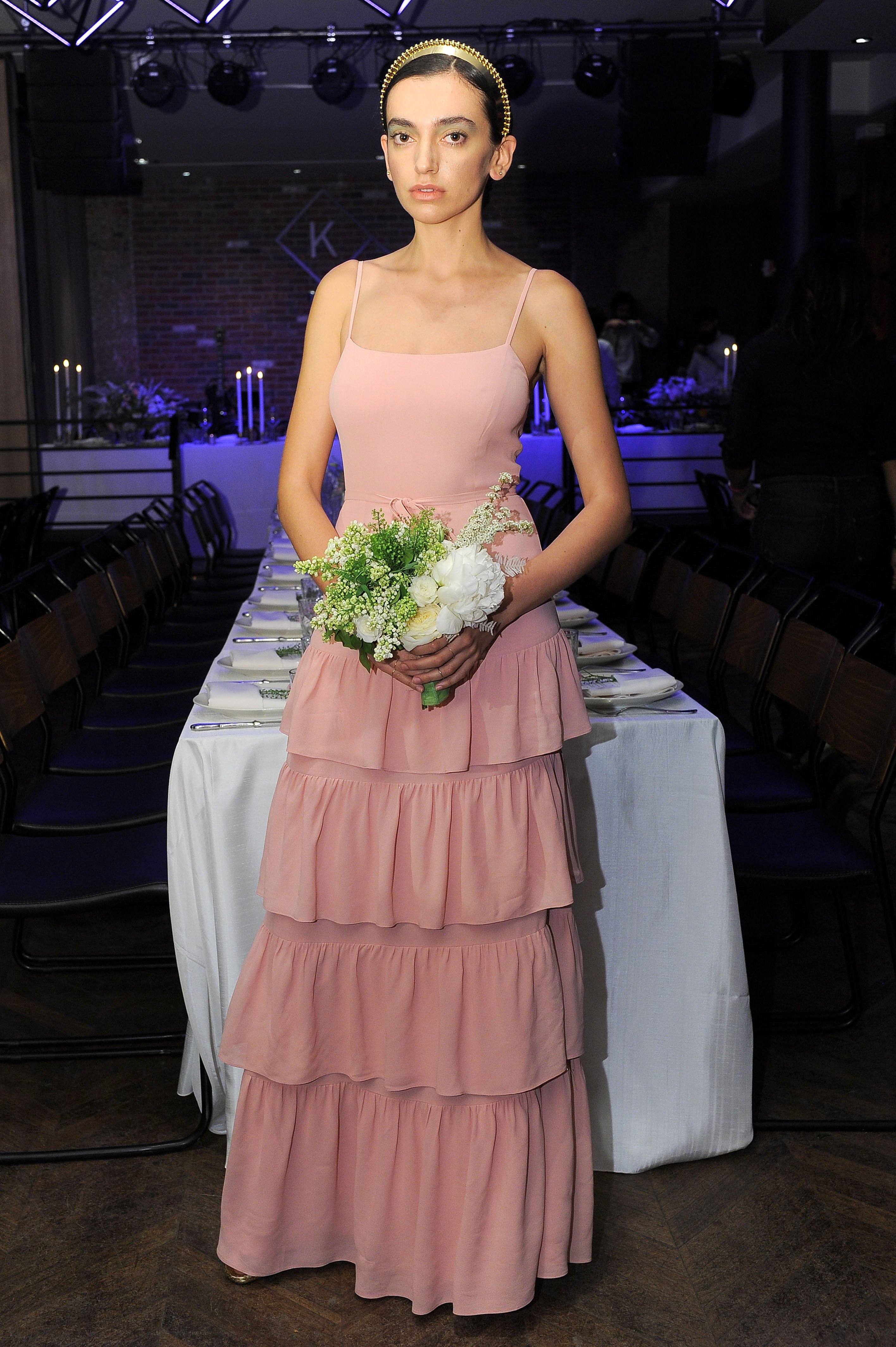 pink reformation spring 2018 wedding dress