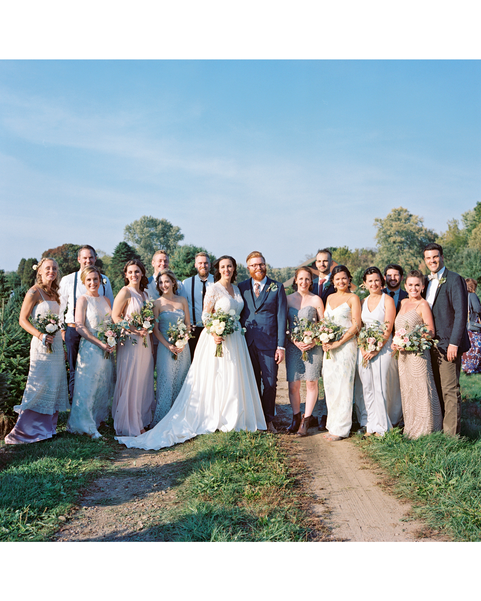 rachel elijah wedding entire bridal party