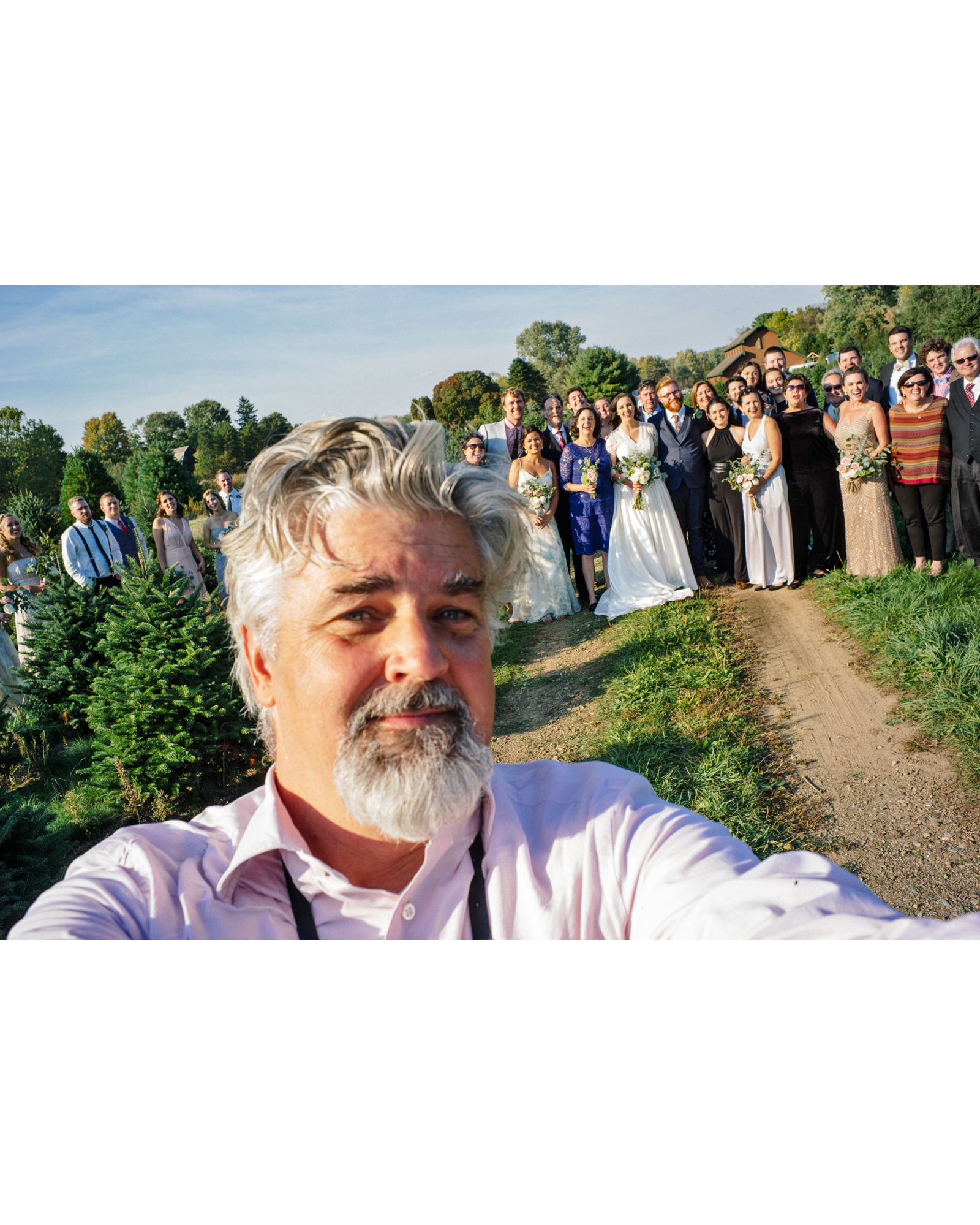 rachel elijah wedding selfie