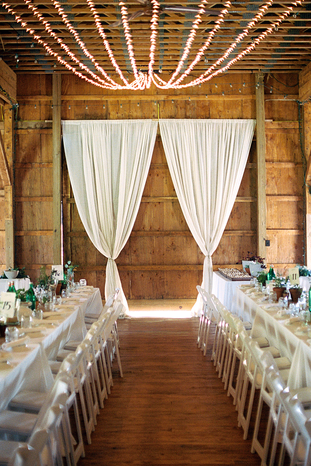 rachel elijah wedding barn curtains