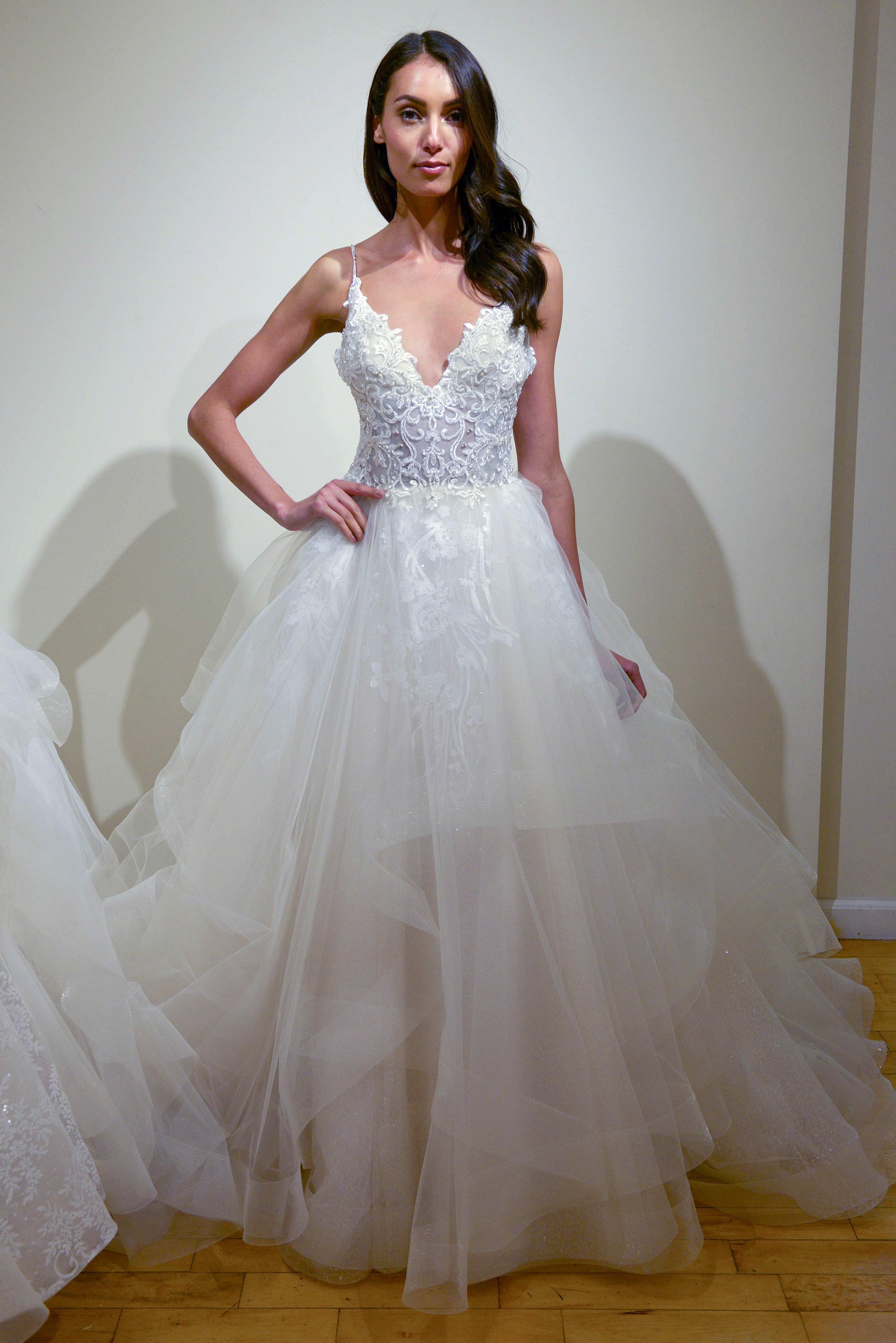 eve of milady spaghetti strap wedding dress spring 2018