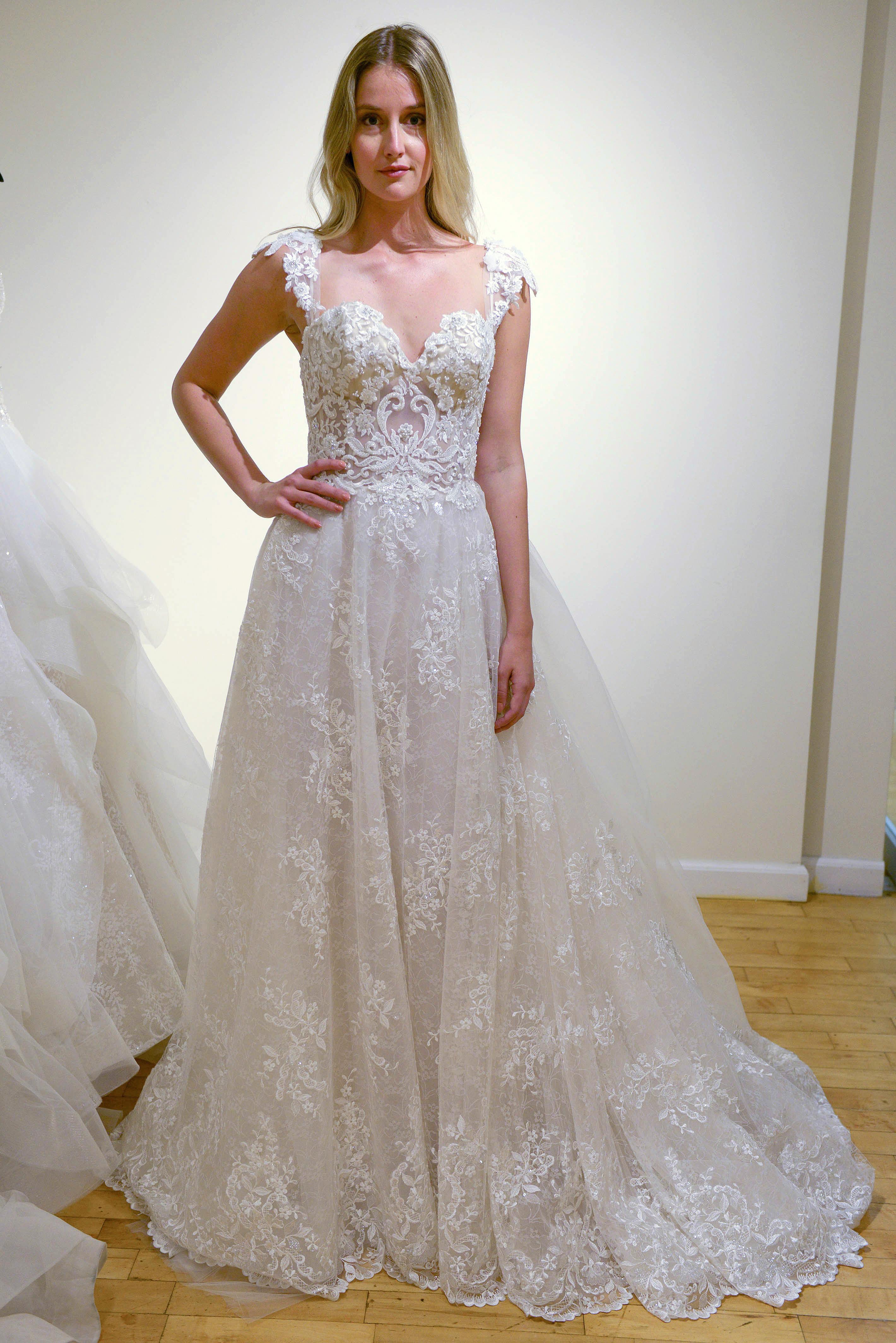 eve of milady cap sleeve wedding dress spring 2018