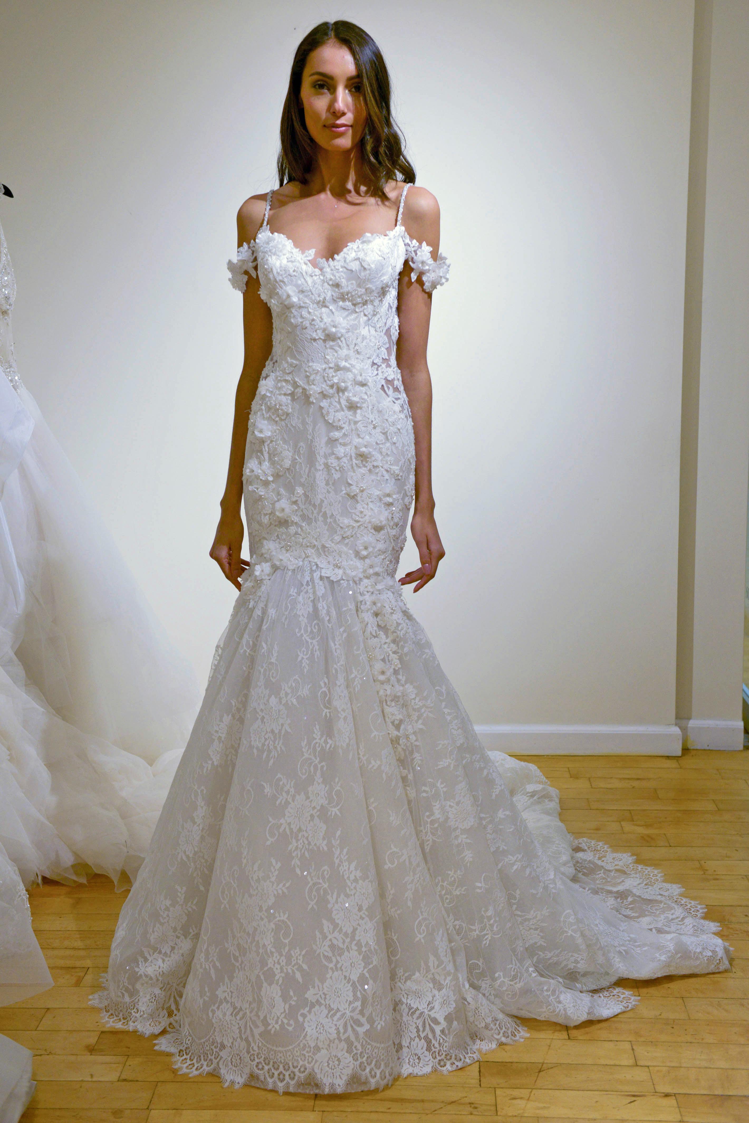 eve of milady spaghetti strap mermaid wedding dress spring 2018
