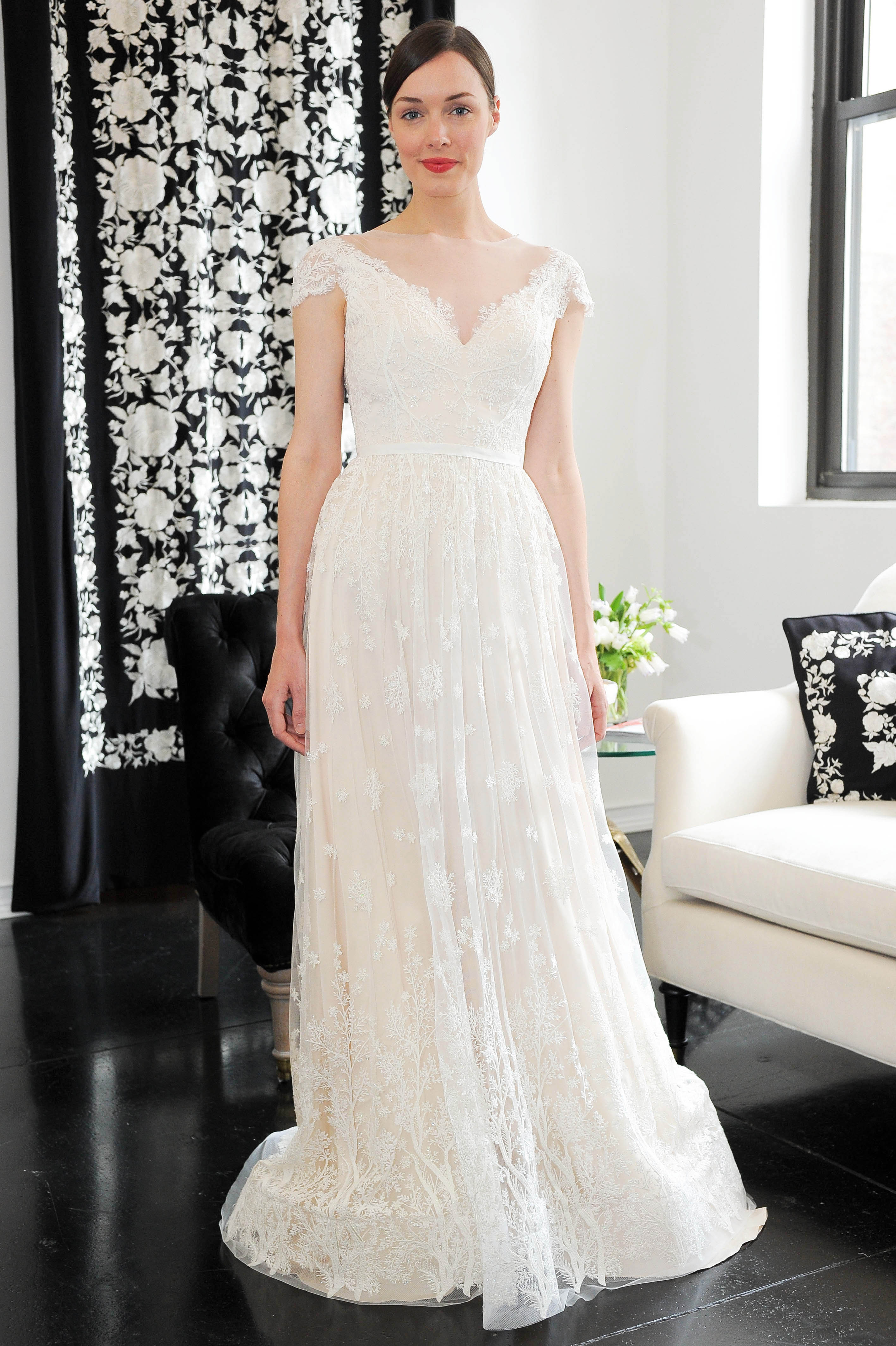 cap sleeve lace catherine deane wedding dress spring 2018