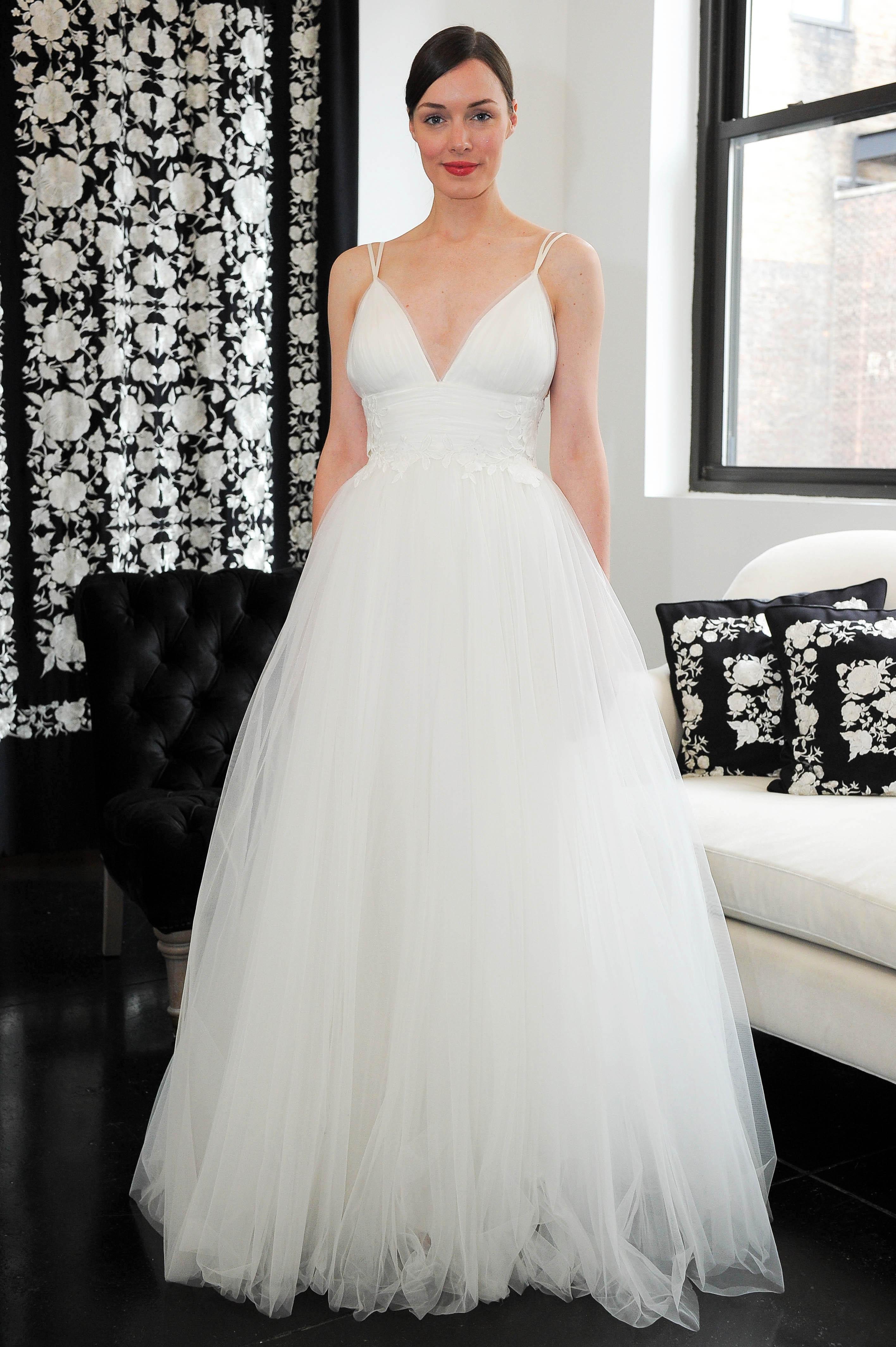 v-neck tulle catherine deane wedding dress spring 2018