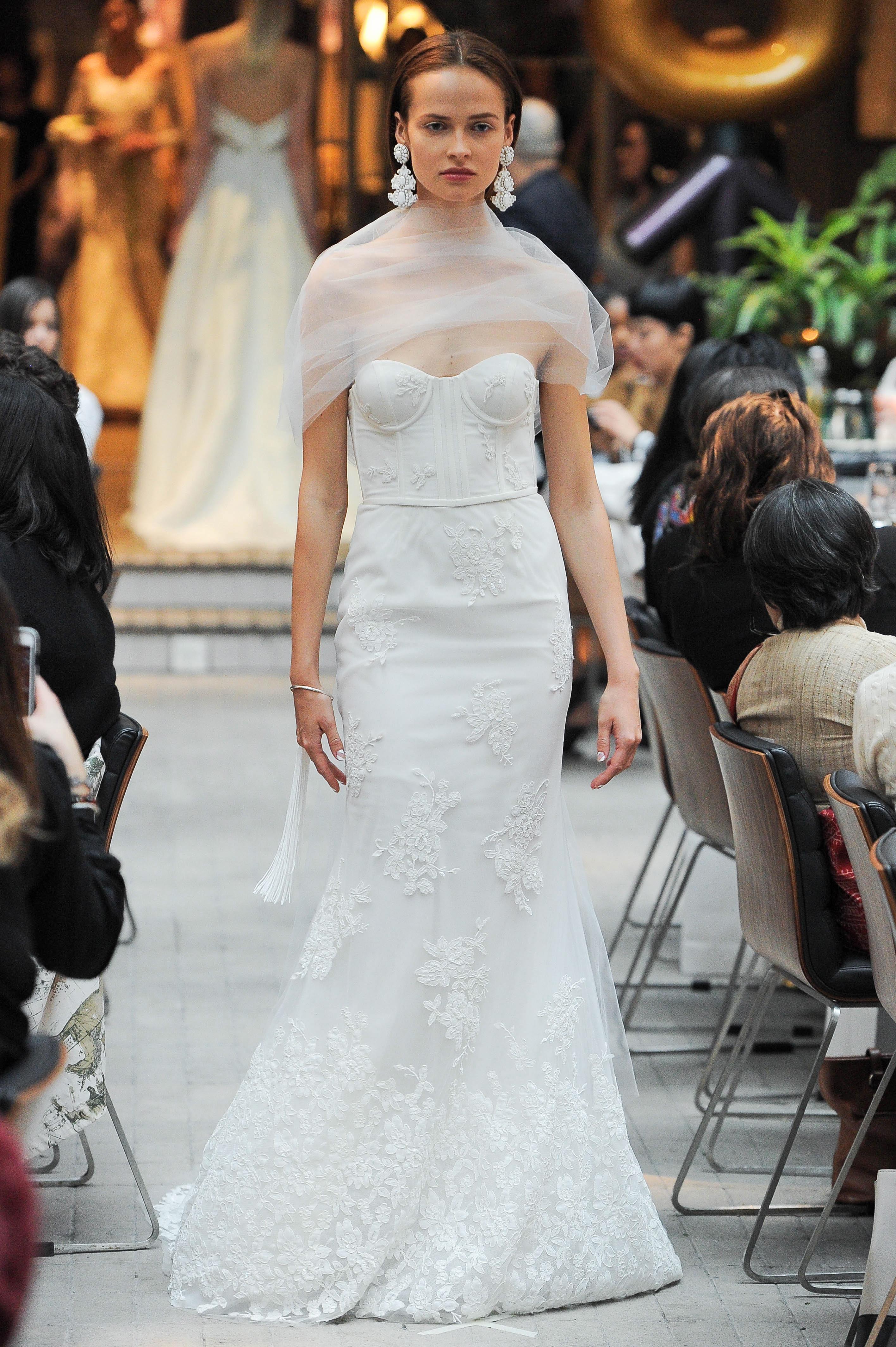 sachin and babi strapless lace wedding dress spring 2018
