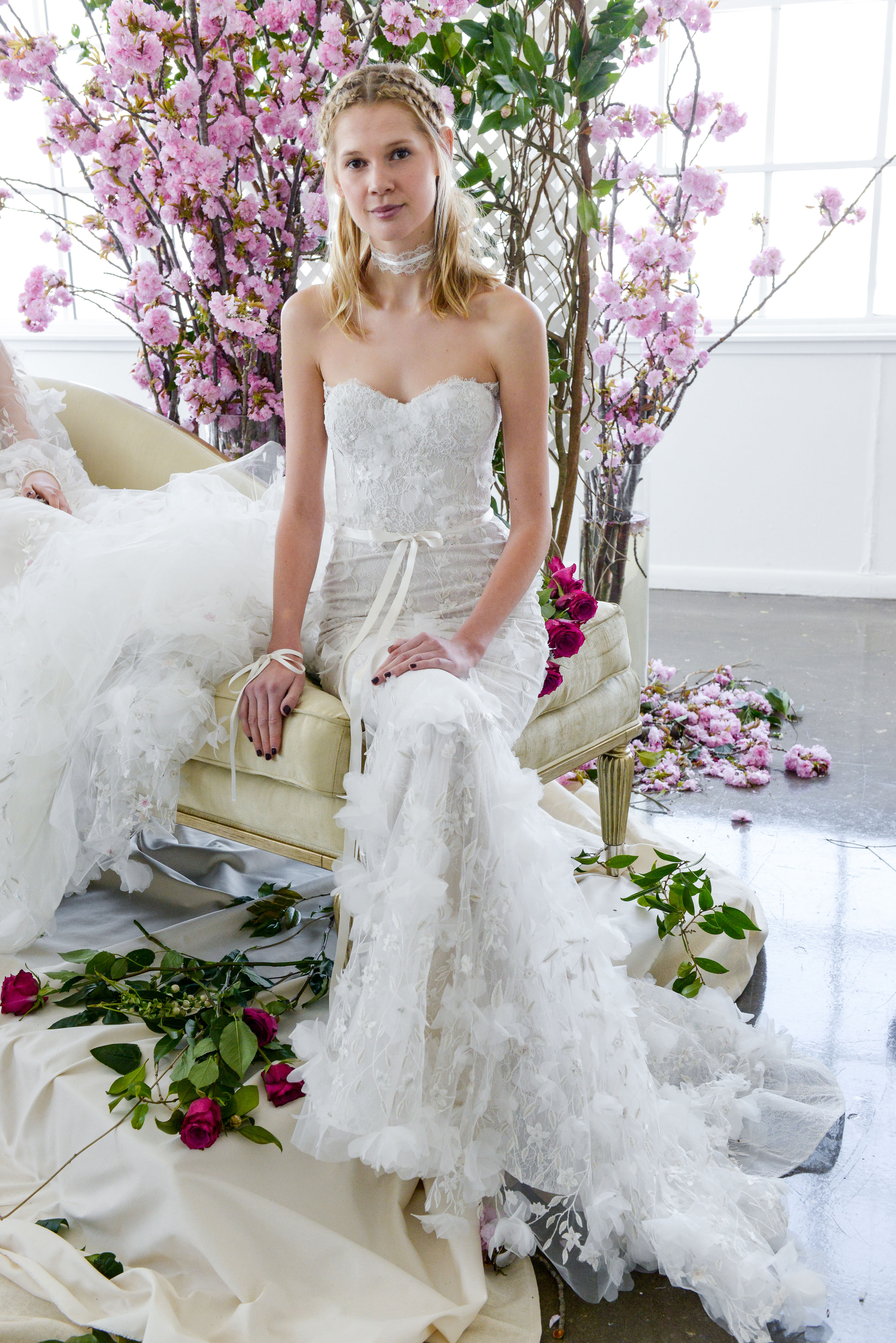 sweetheart mermaid marchesa wedding dress spring 2018