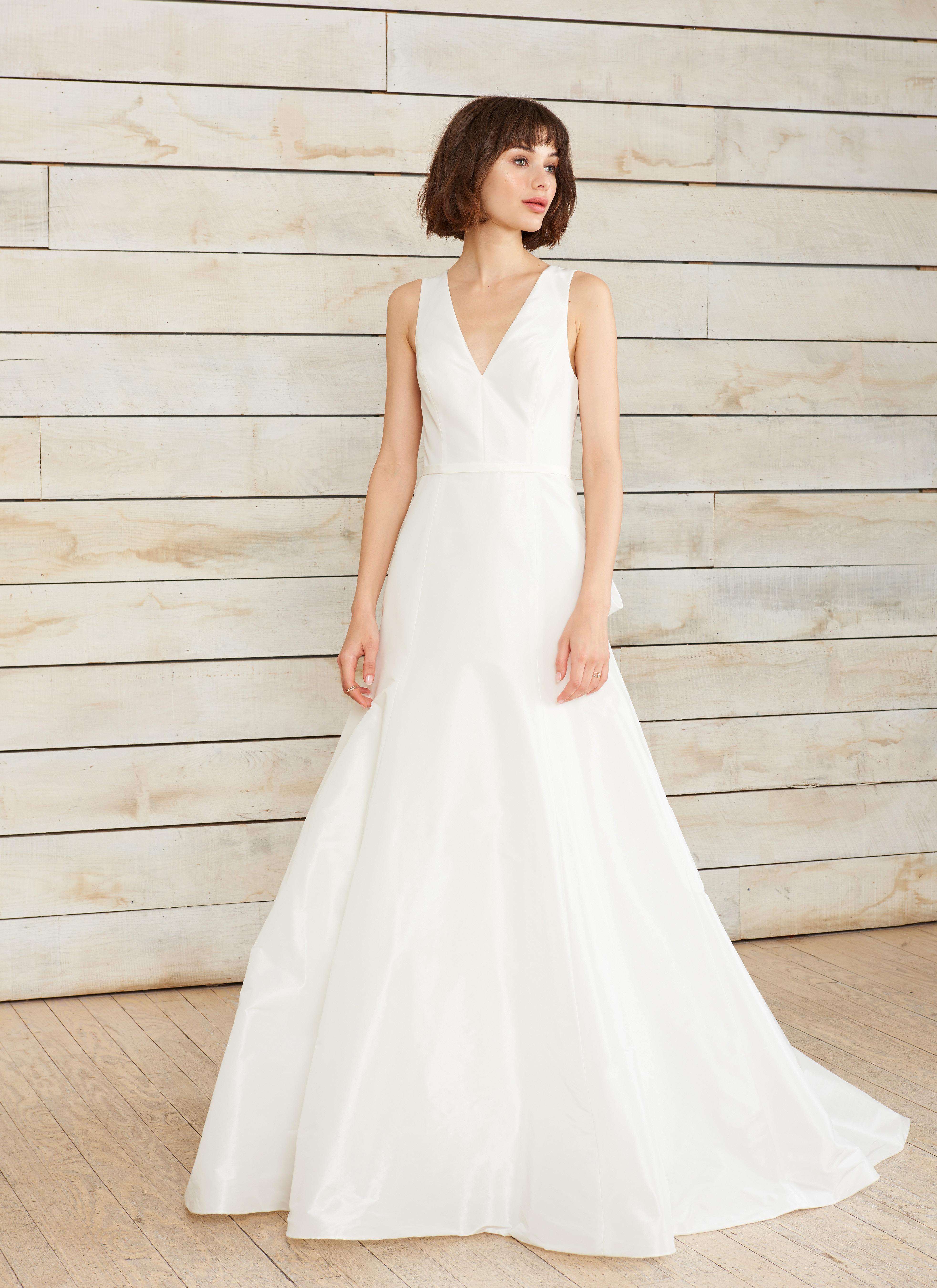 nouvelle amsale v-neck a-line wedding dress spring 2018