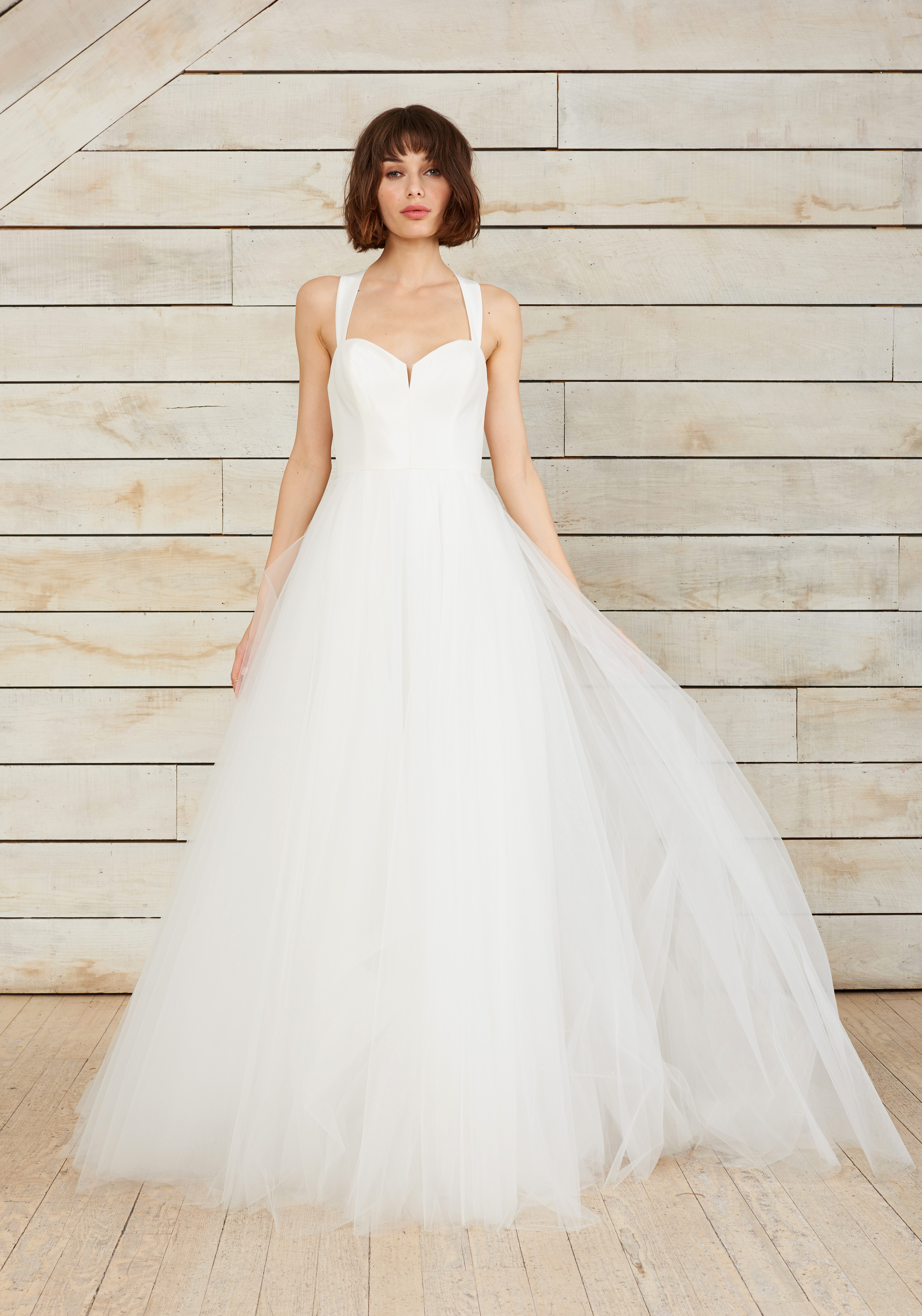 nouvelle amsale sweetheart tulle ball gown wedding dress spring 2018