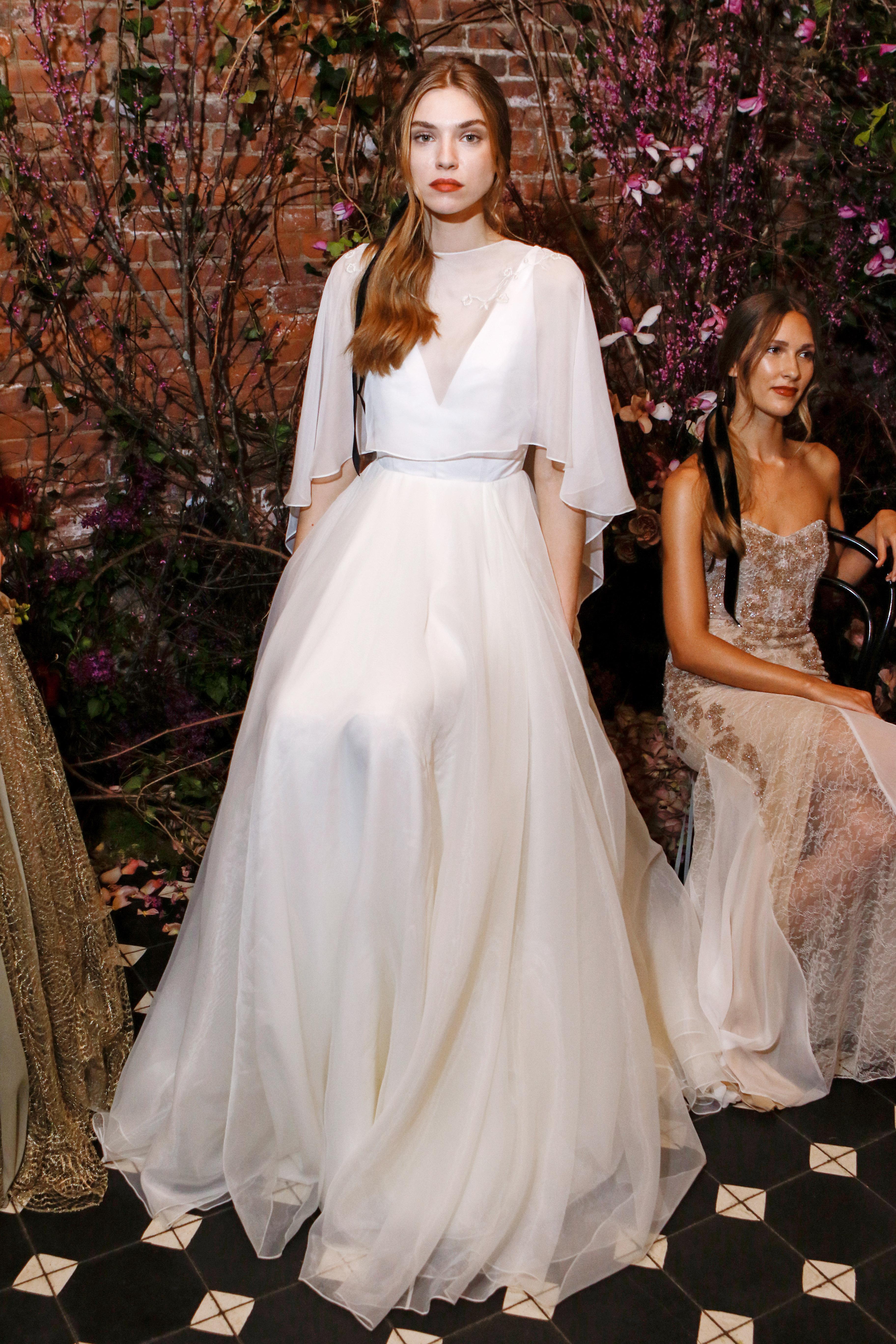 a-line sheer sarah seven wedding dress spring 2018